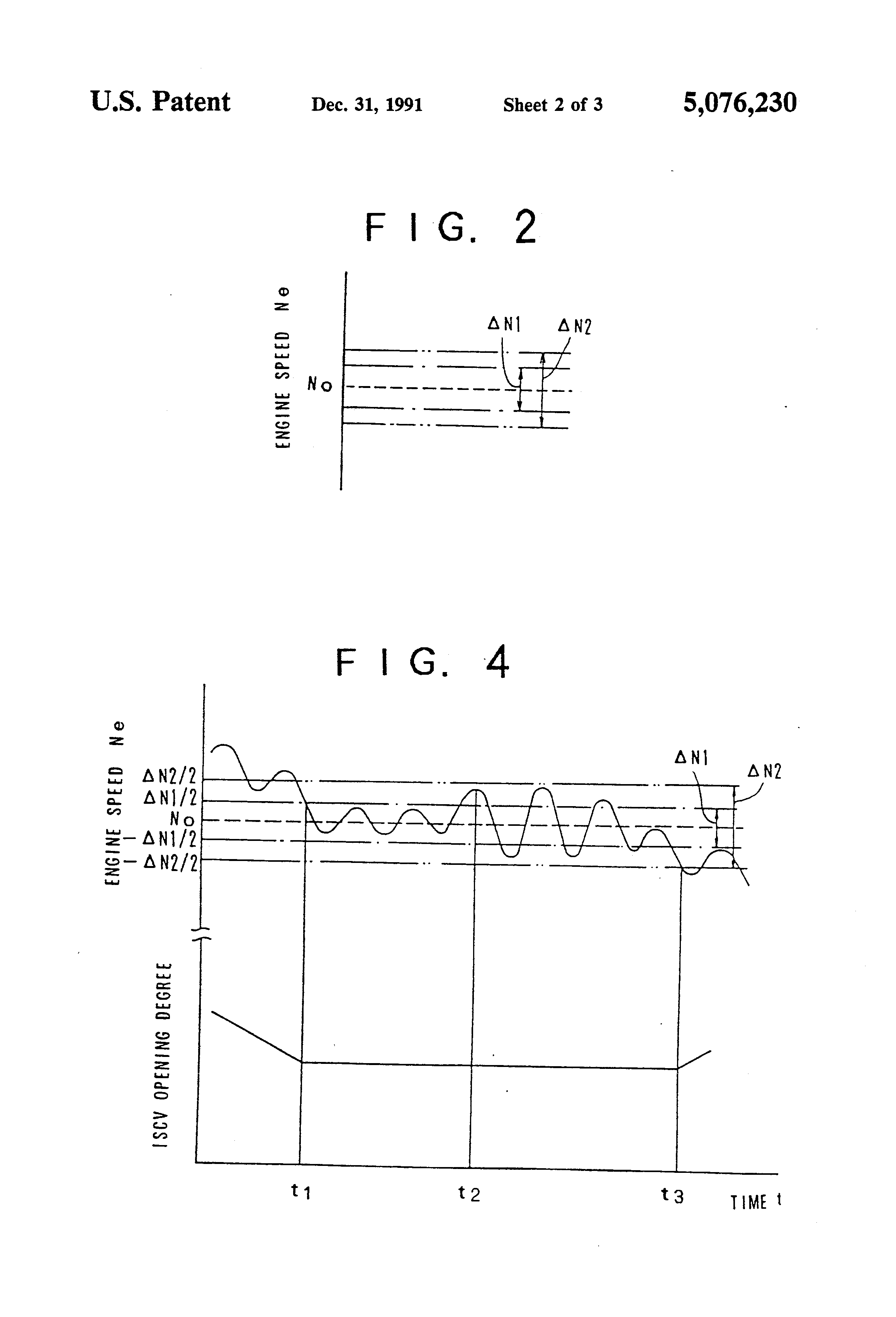 Patent US5076230 - Idle speed control system for an engine