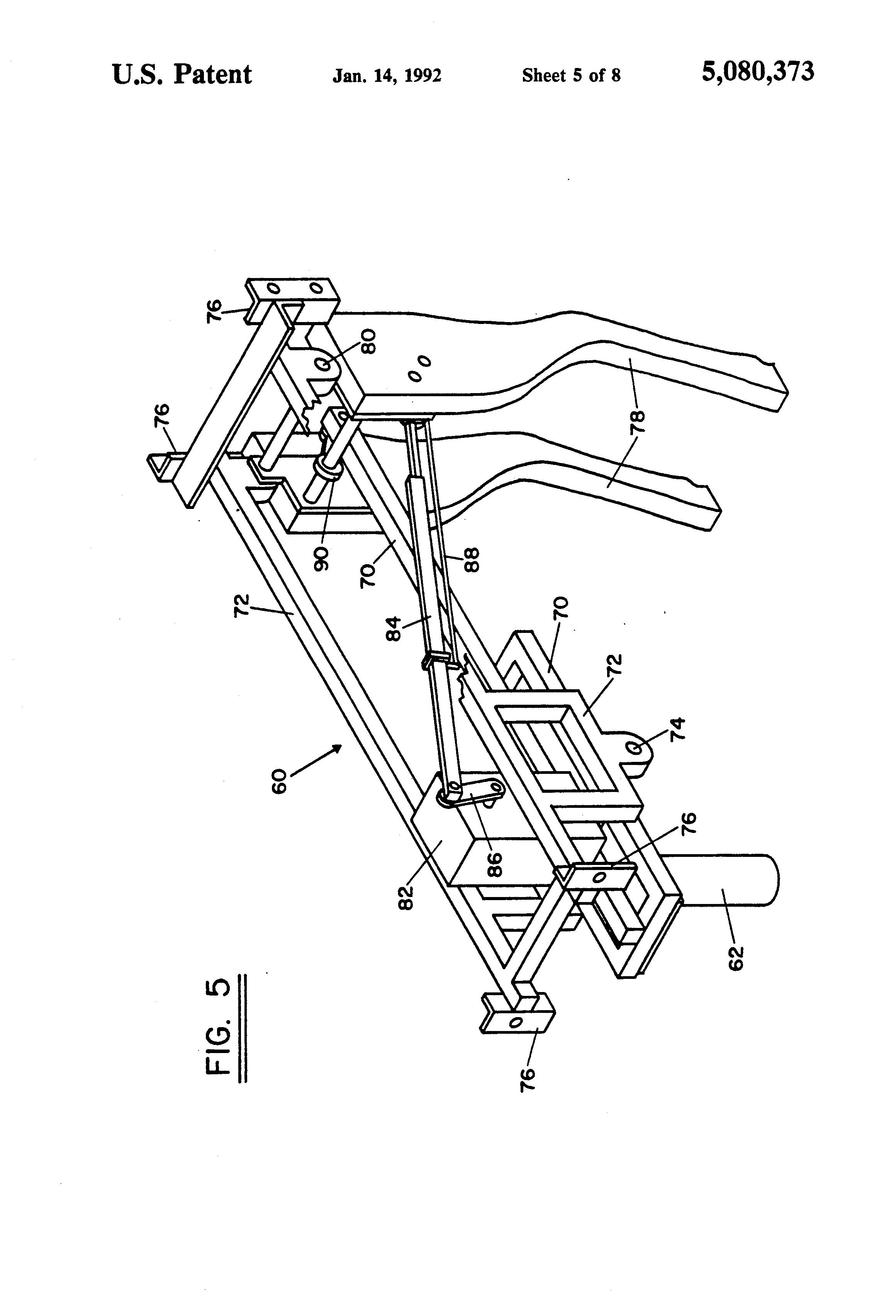Patent Us5080373 Roping Training Apparatus And Method