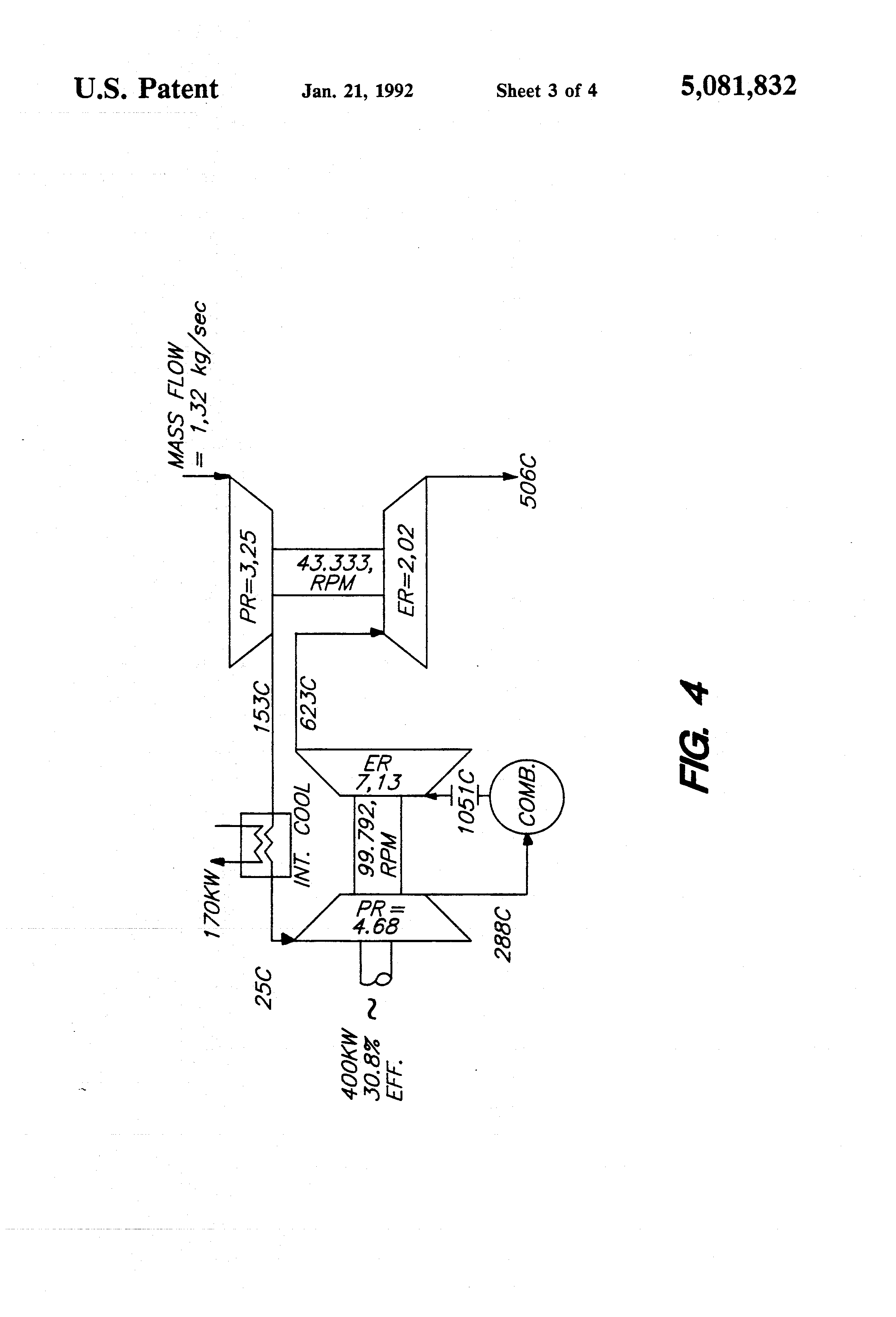 Patent US High efficiency twin spool radial high