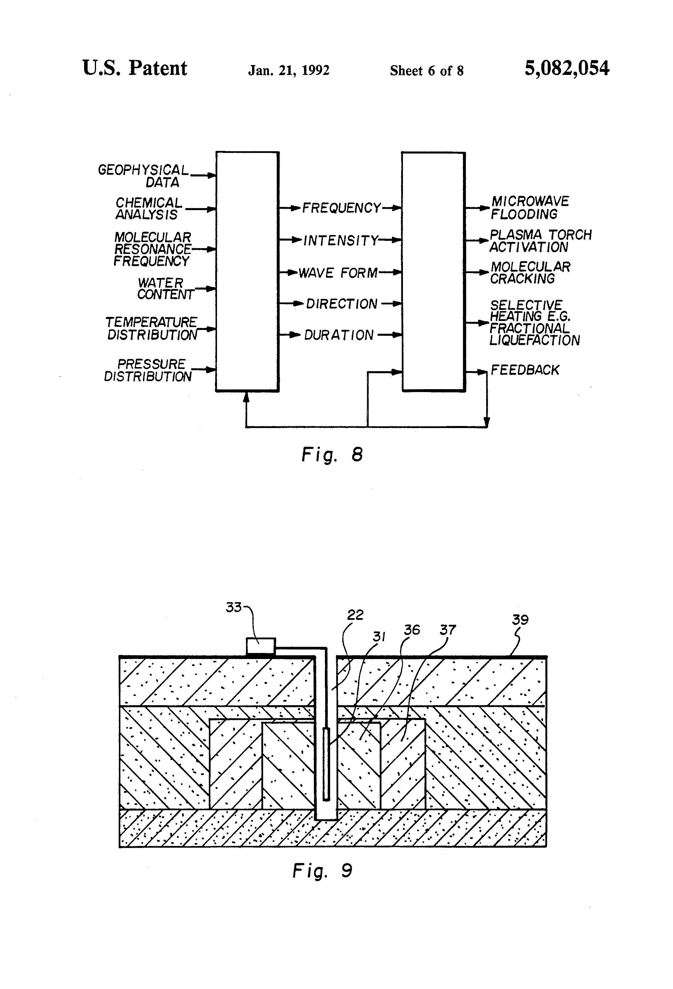 Patent Us5082054 In Situ Tuned Microwave Oil Extraction Process 1987 Winnebago Chieftain Wiring Diagram Drawing