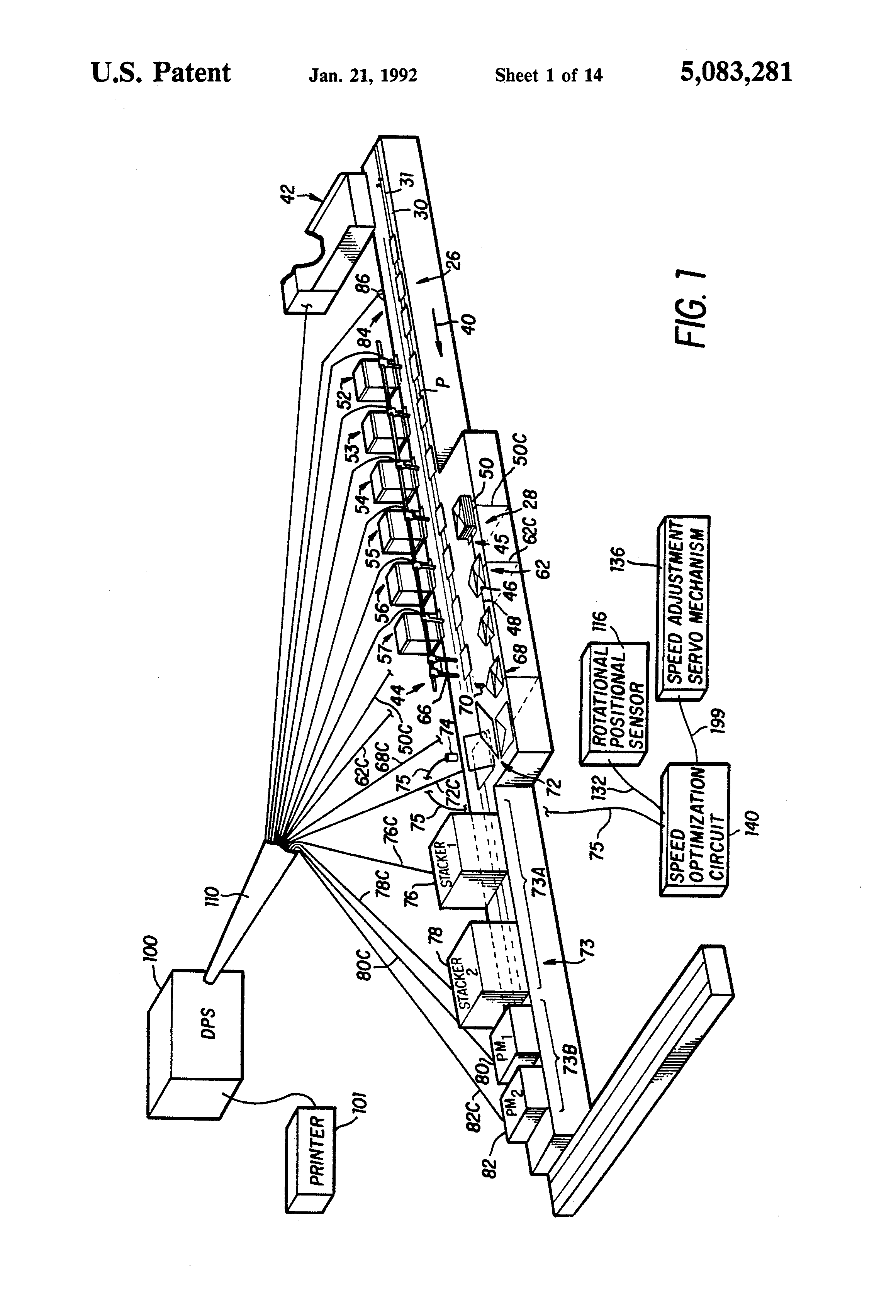 Patent US5083281 - Insertion machine with speed optimization