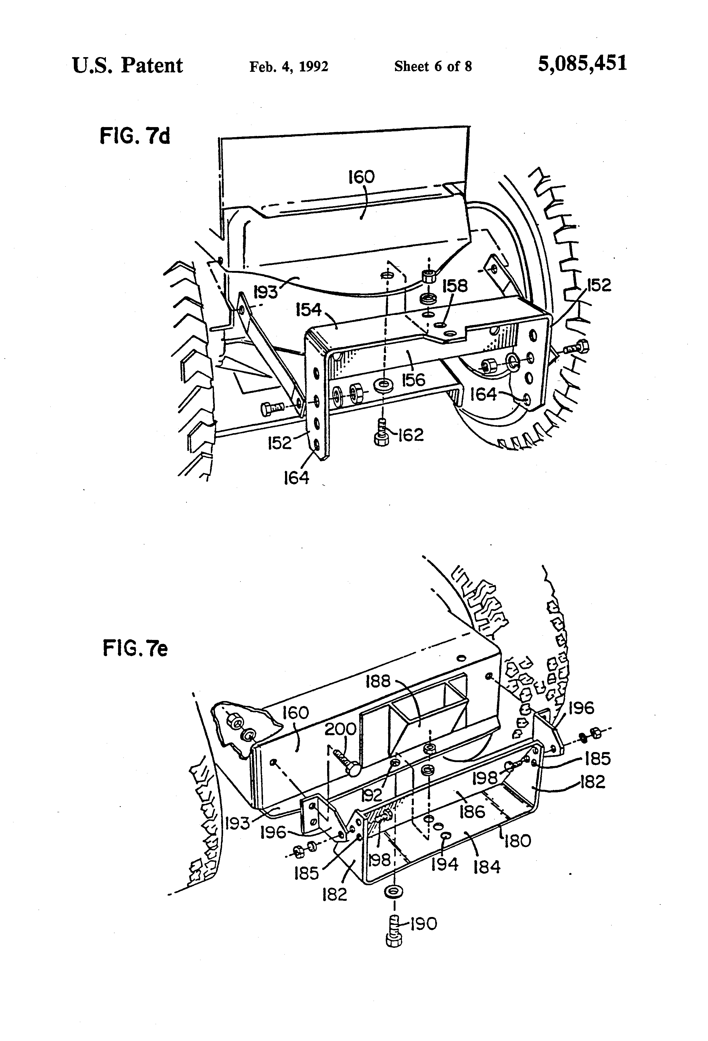 Patent Us5085451 Universal Mounting Hitch Google Patenten Toro Wheel Horse 312 Wiring Diagram Drawing