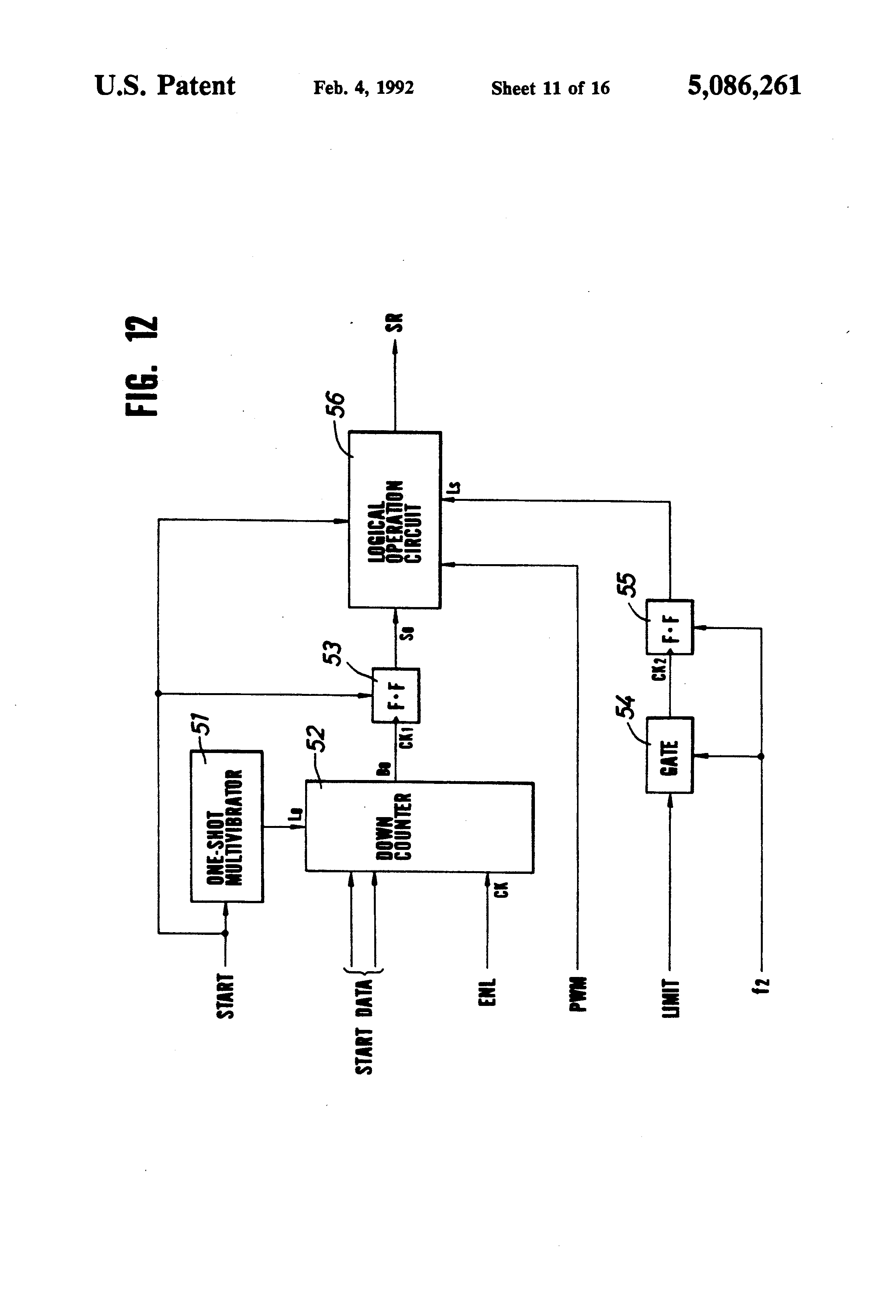 Patent Us5086261 Motor Speed Control Device For Use In An Image Often Called A One Shot Multivibrator Is Pulse Generating Circuit Drawing