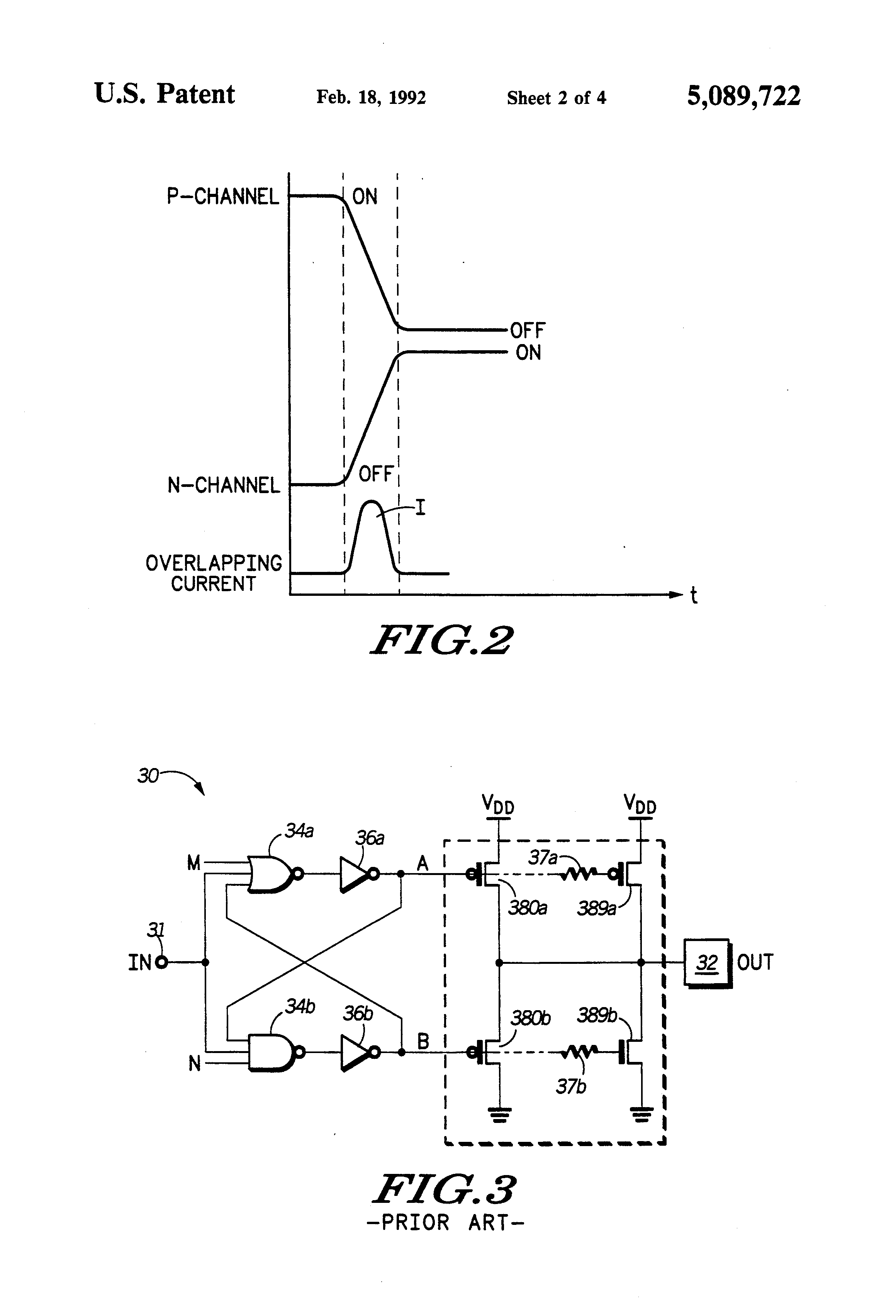patent us5089722 high speed output buffer circuit overlap patent drawing