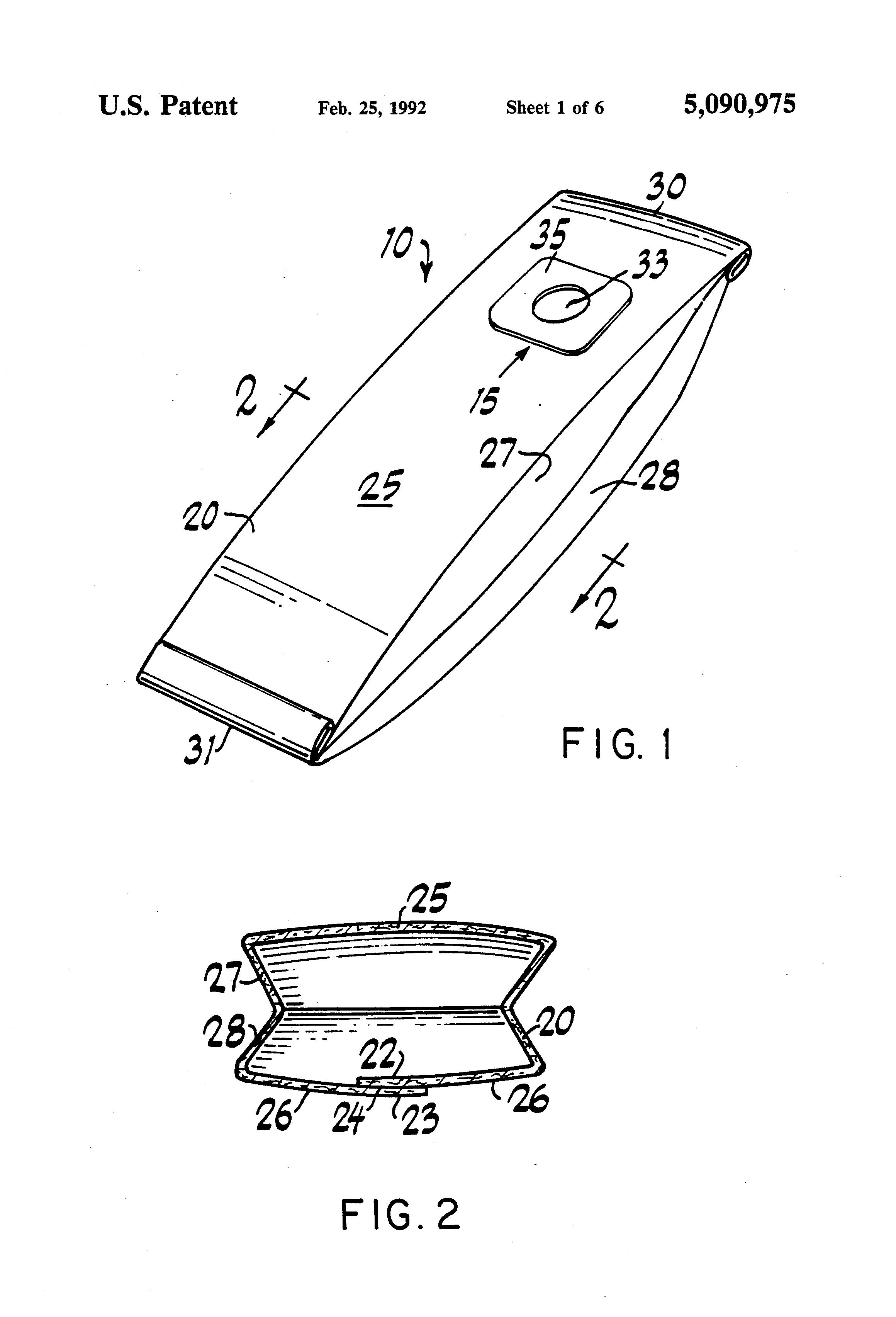 Cutaway Diagram Vacuum Cleaners Schematic Diagrams Kirby G6 Wiring Patente Us5090975 High Efficiency Cleaner Bags Google 1999 Gmc Safari