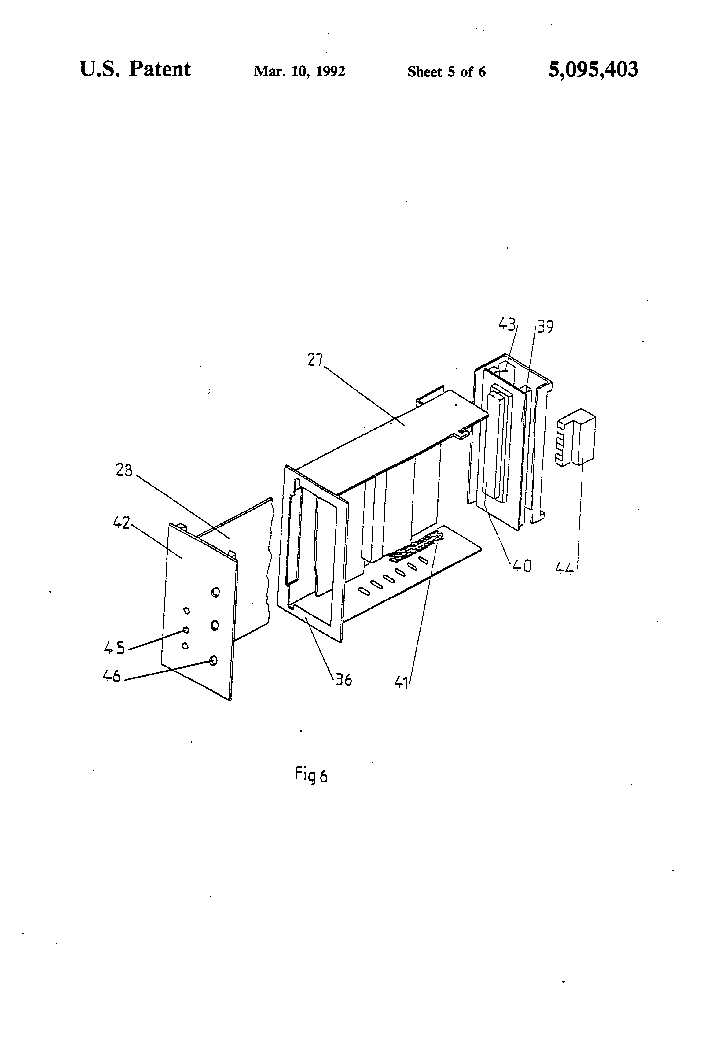 patent us5095403 - low voltage switchboard