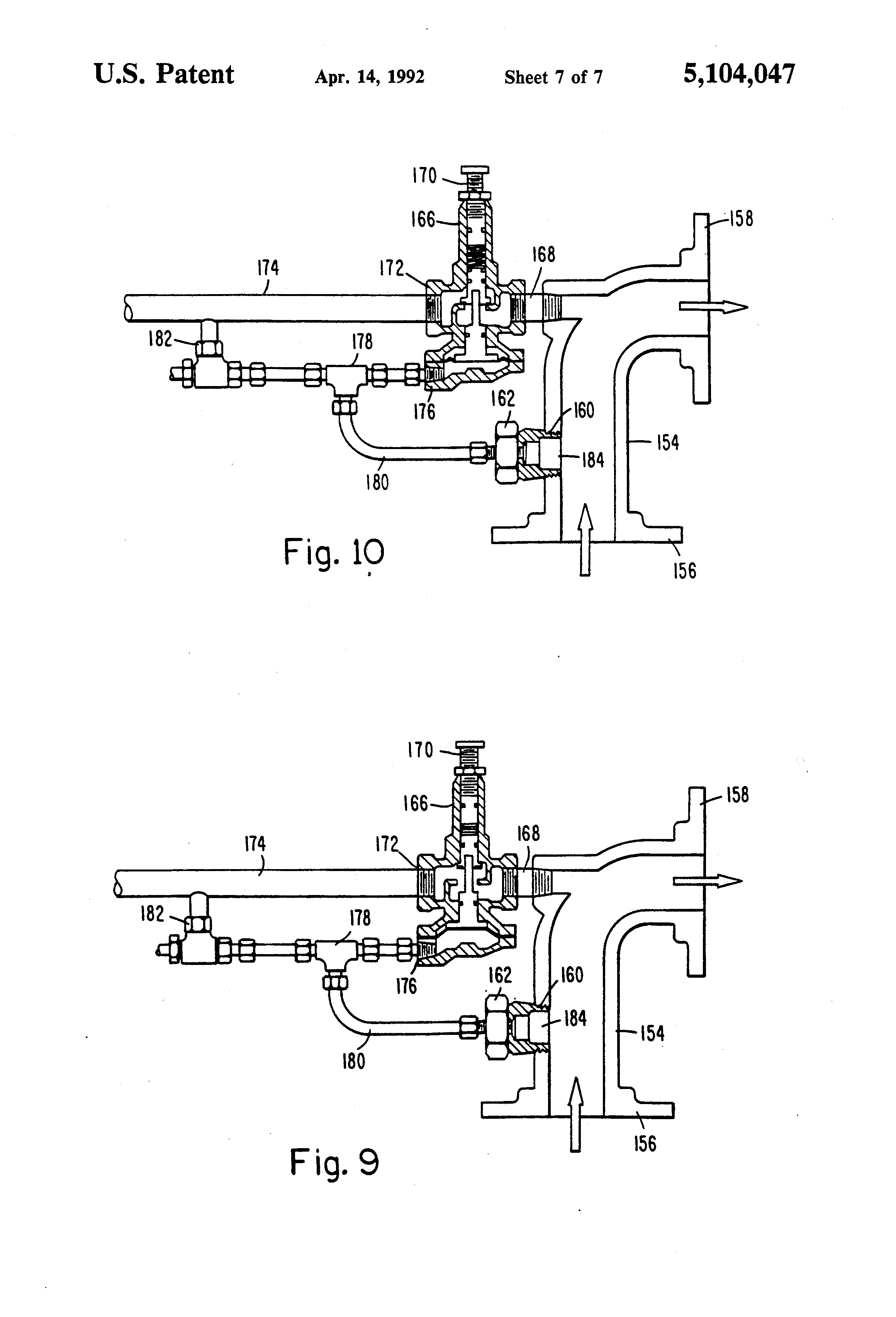patent us5104047 - wet process recovery system for solid waste