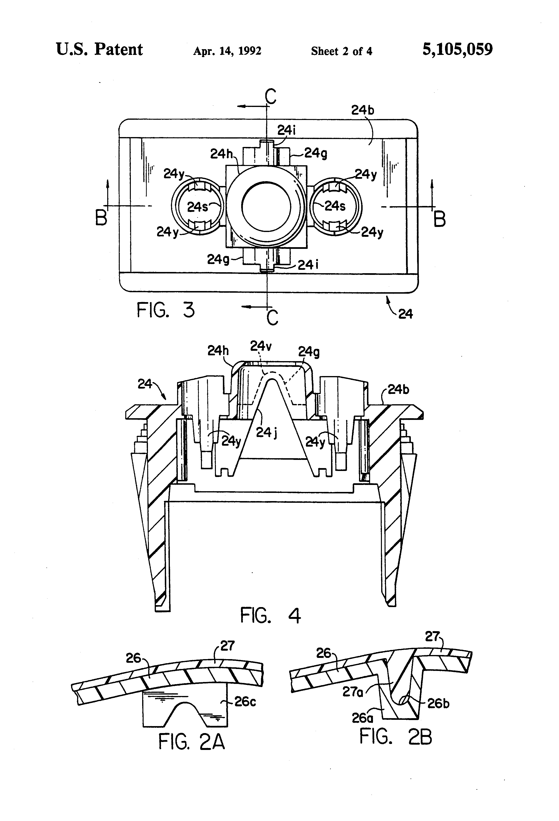 patent us5105059 - environmentally sealed switch construction