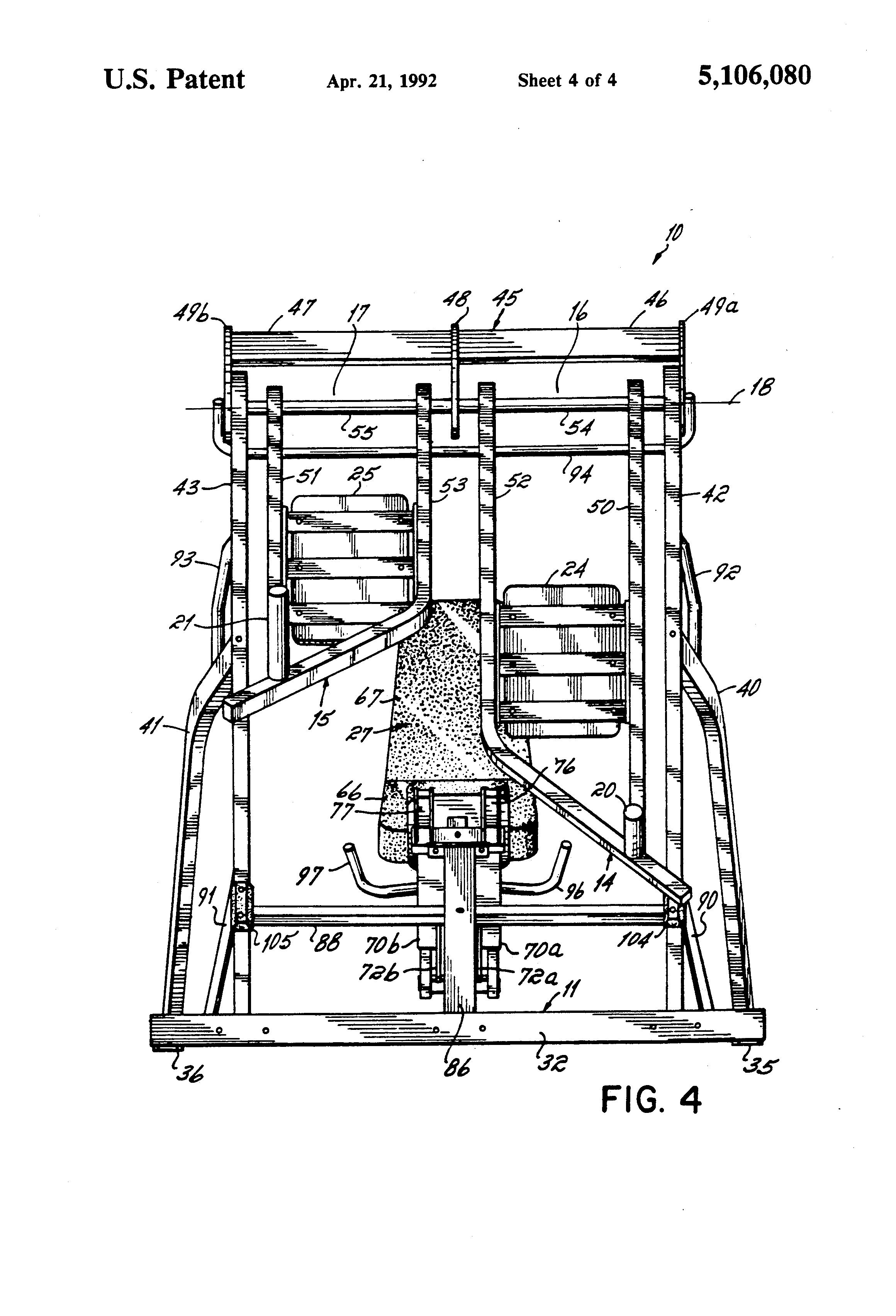 Patent US5106080 - Leg press exercise machine - Google Patents