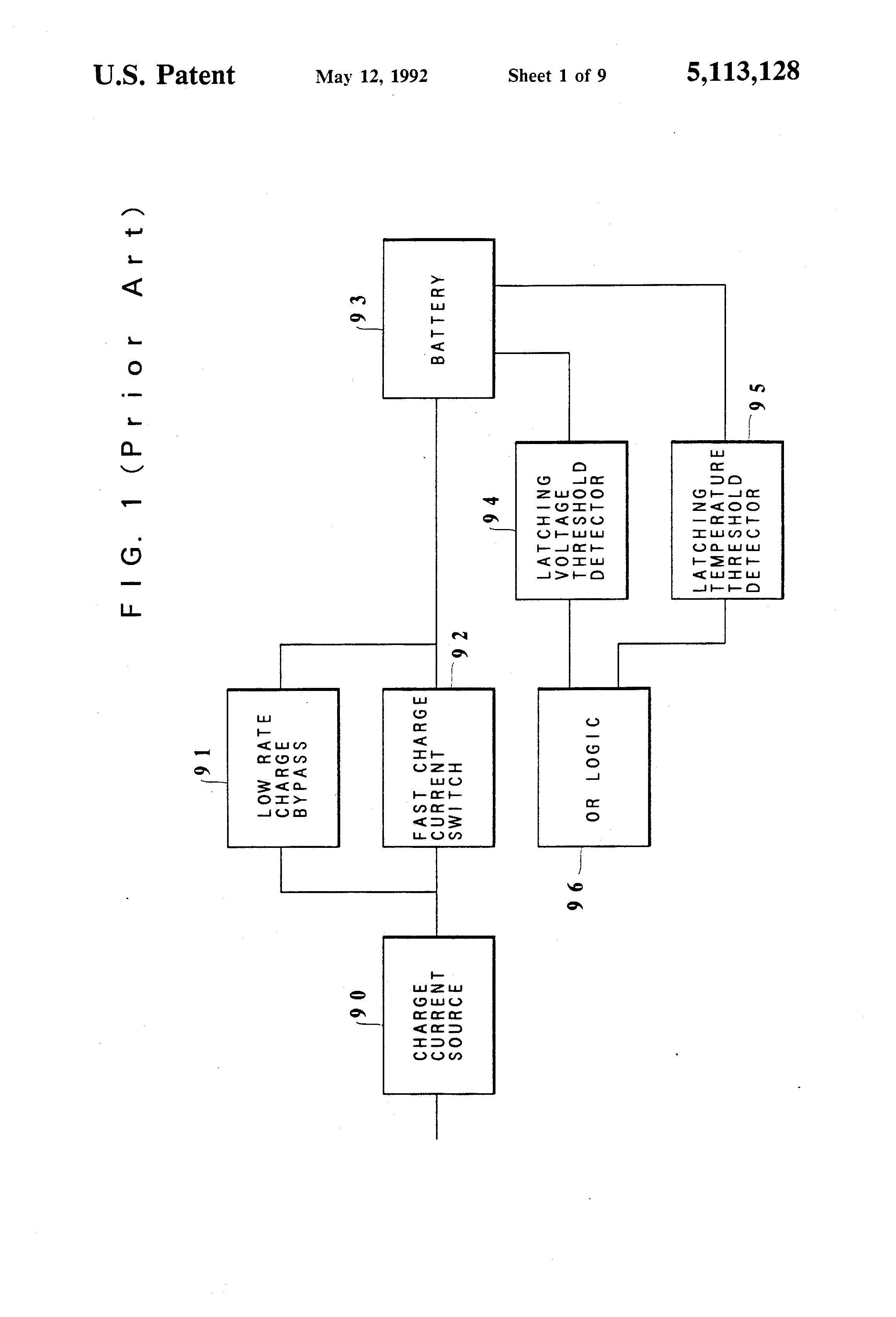 Patent Us5113128 Battery Charger And Charging Method Google Patents Rechargeable Circuit Diagram Powersupplycircuit Drawing