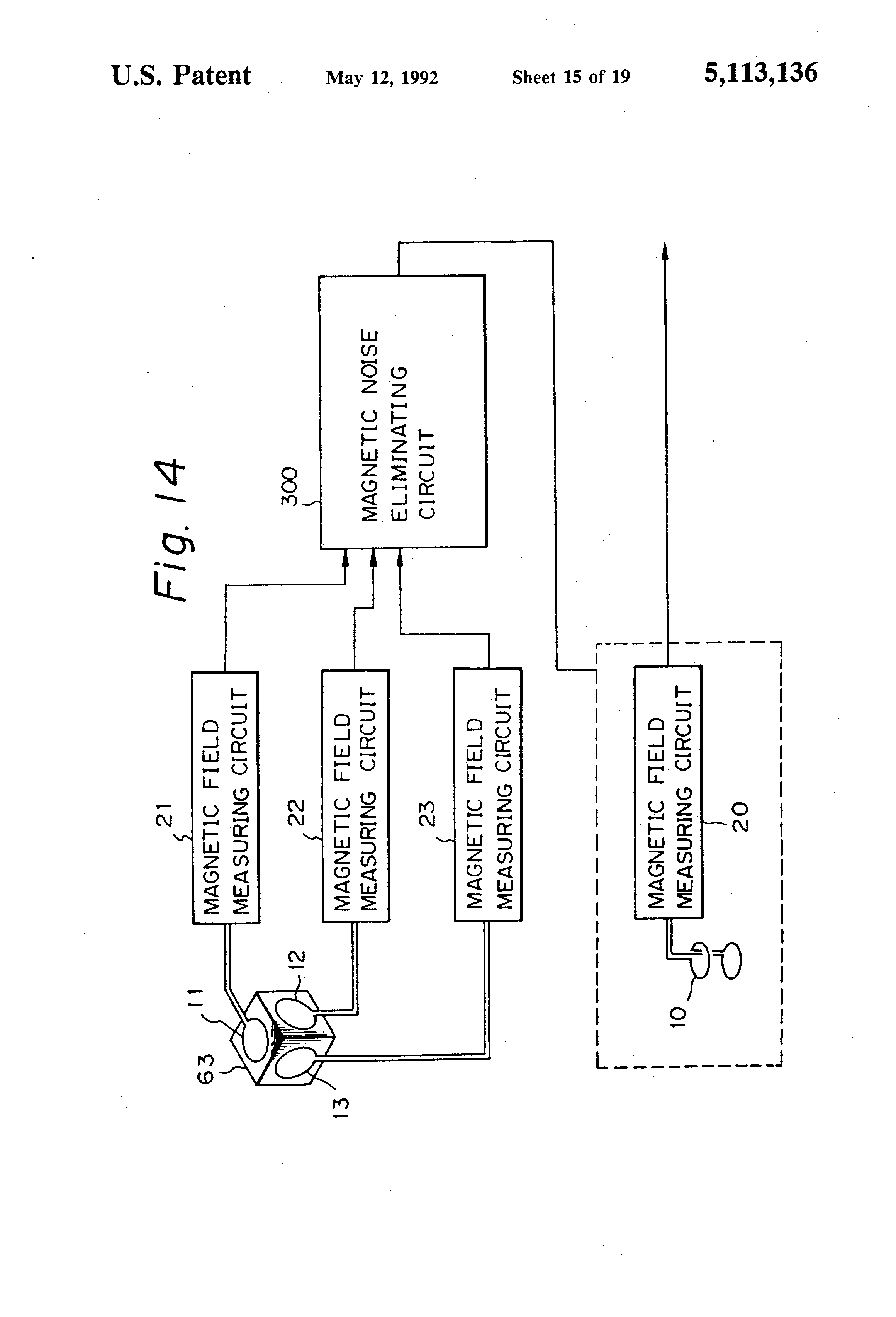 Patente Us5113136 Gradiometer Apparatus With Compensation Coils Noise Meter Circuit Patent Drawing