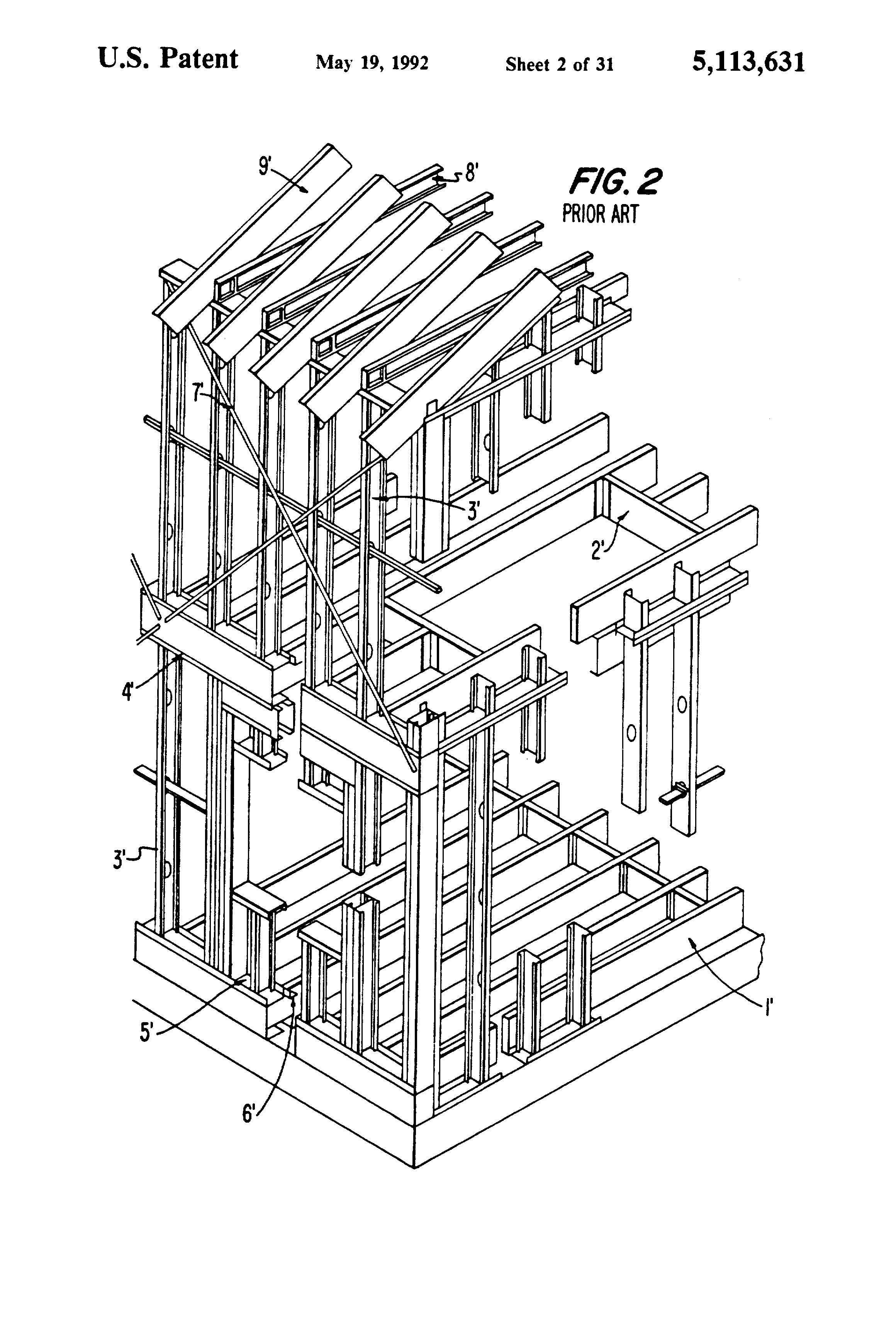 Patent Us5113631 Structural System For Supporting A