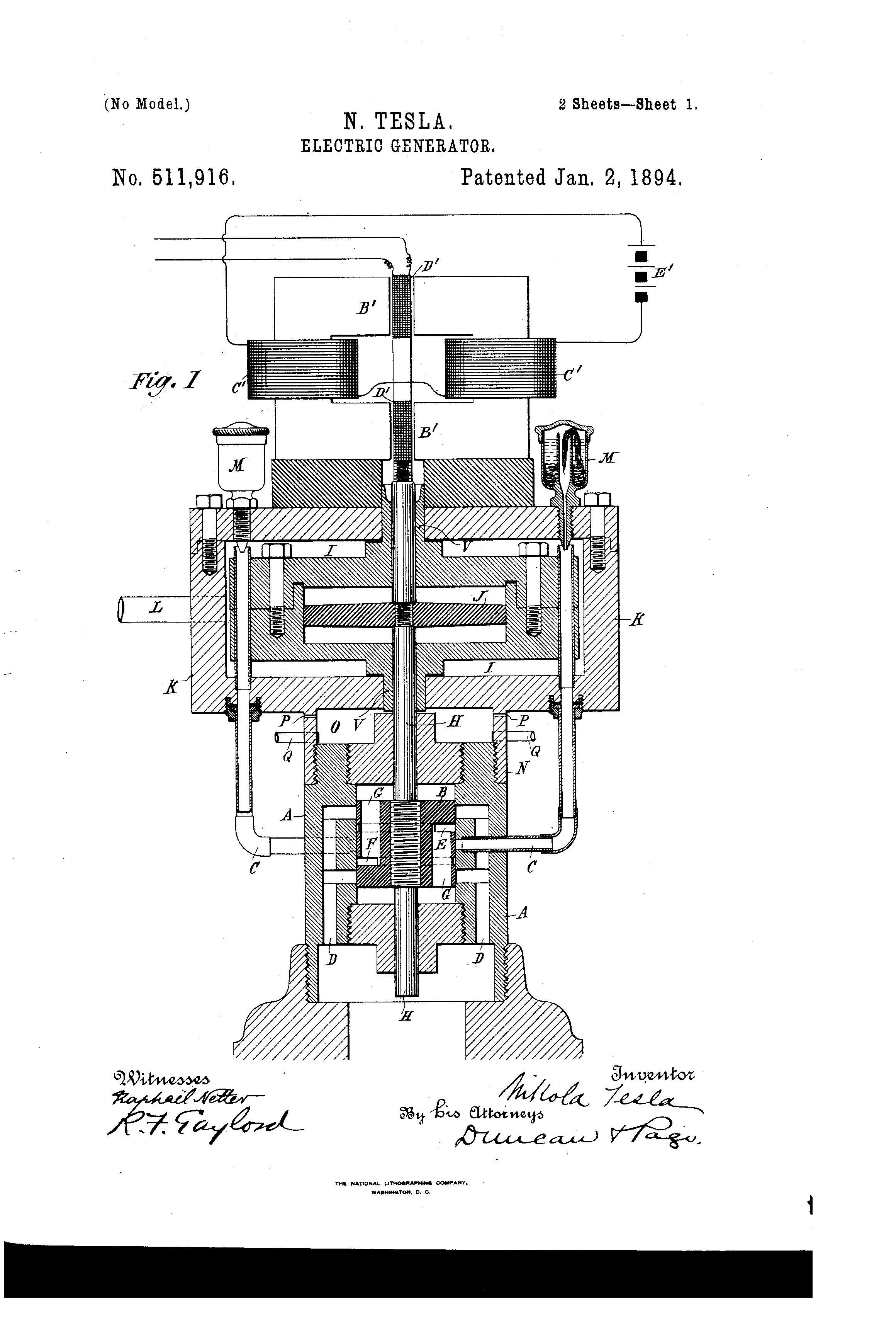 Patent Us511916 Nikola Tesla Google Patents