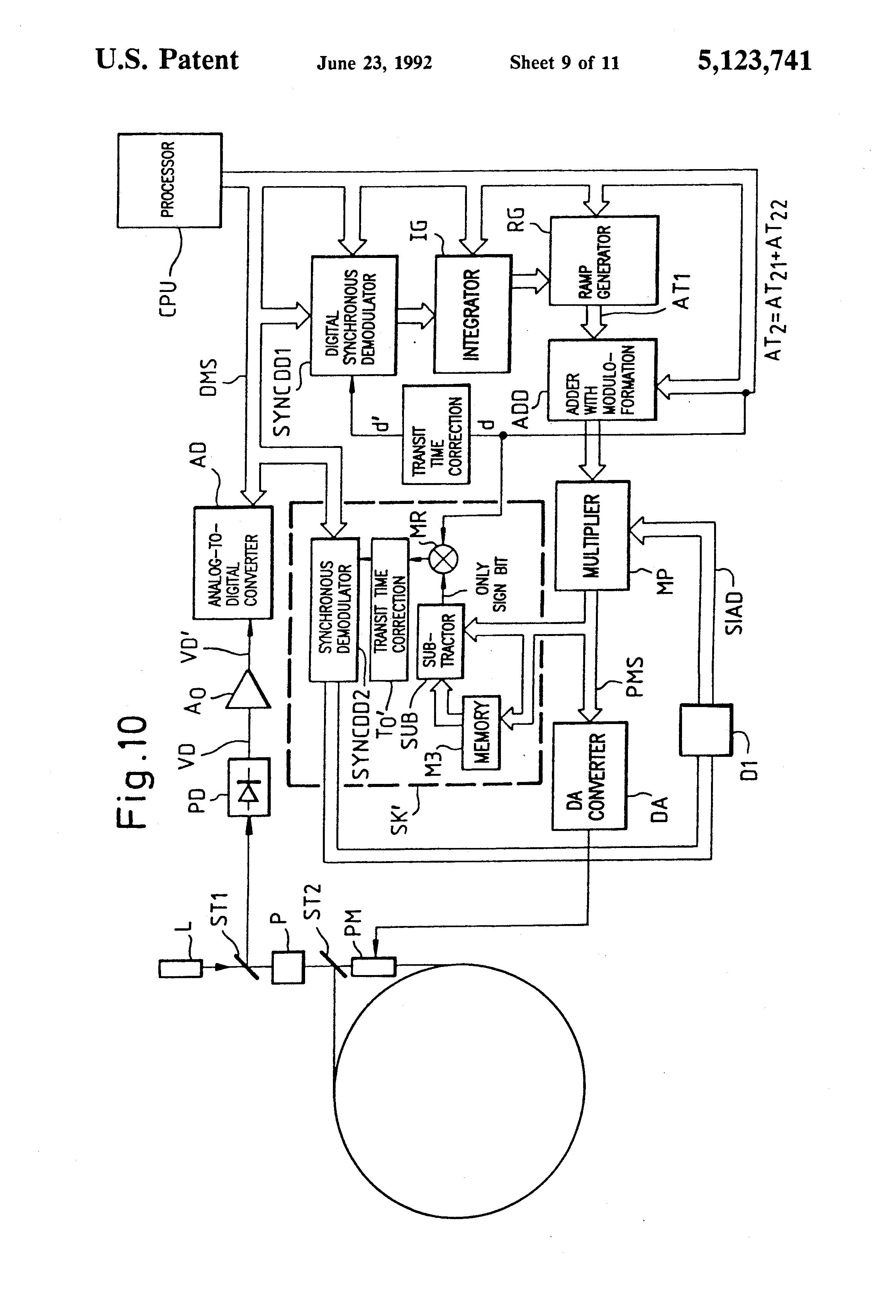 Patent Us5123741 Fiber Optic Sagnac Interferrometer With Digital Optical Copuler Switch Sequential Circuit Diagram Sensorcircuit Drawing