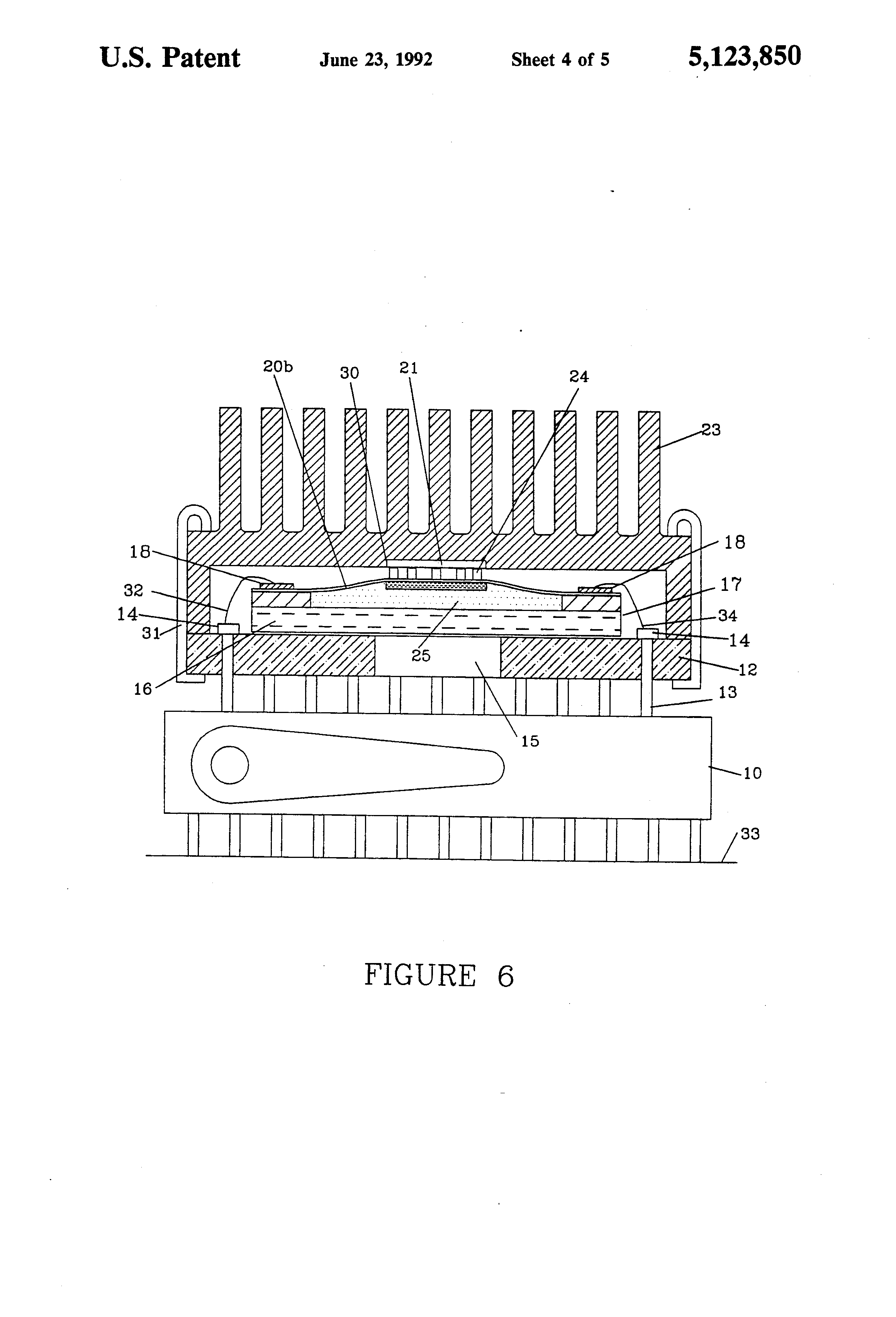 patent us5123850 - non-destructive burn-in test socket for integrated circuit die