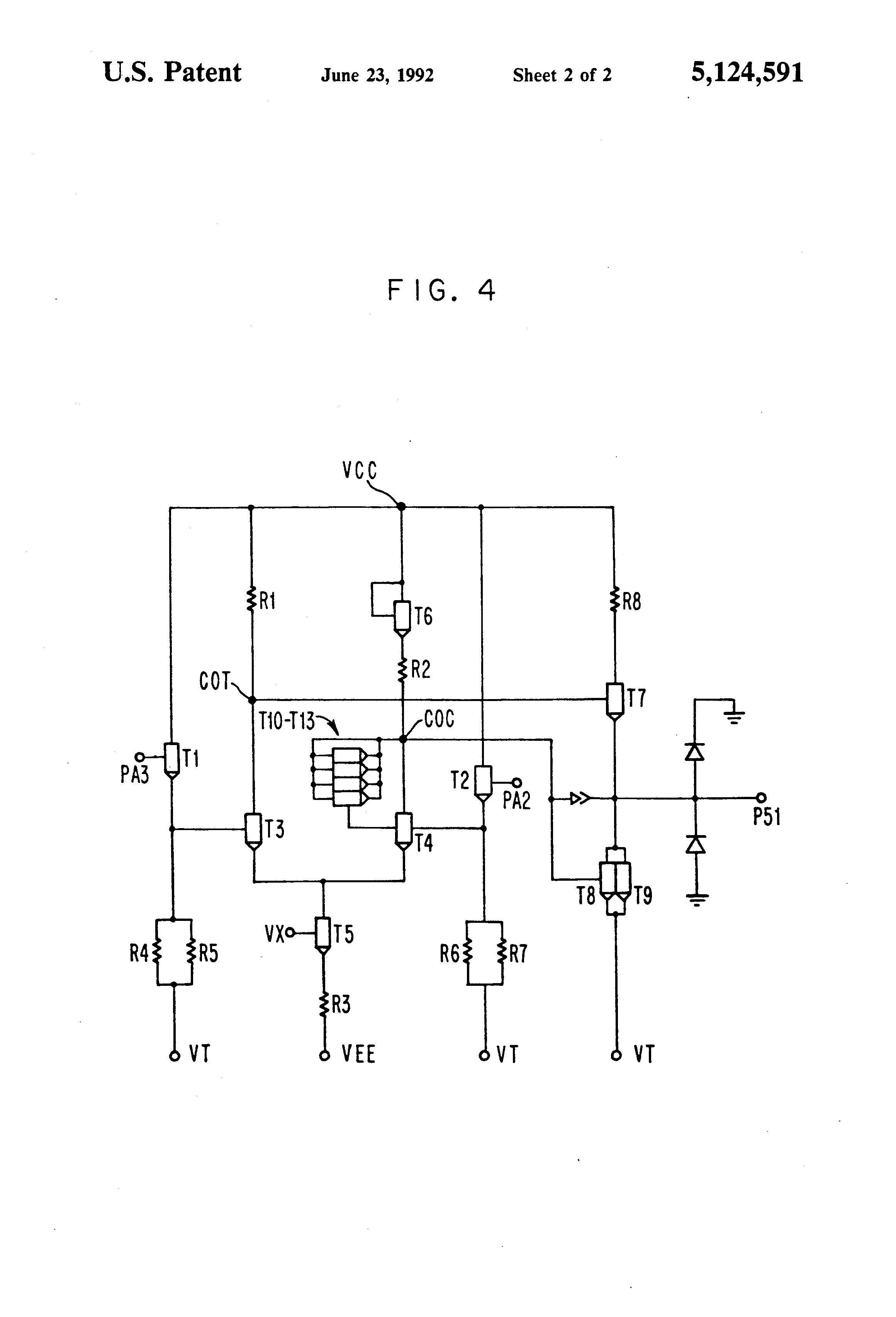 Patent Us5124591 Low Power Push Pull Driver Google Patentsuche Differential Cascode Circuit And Drawing
