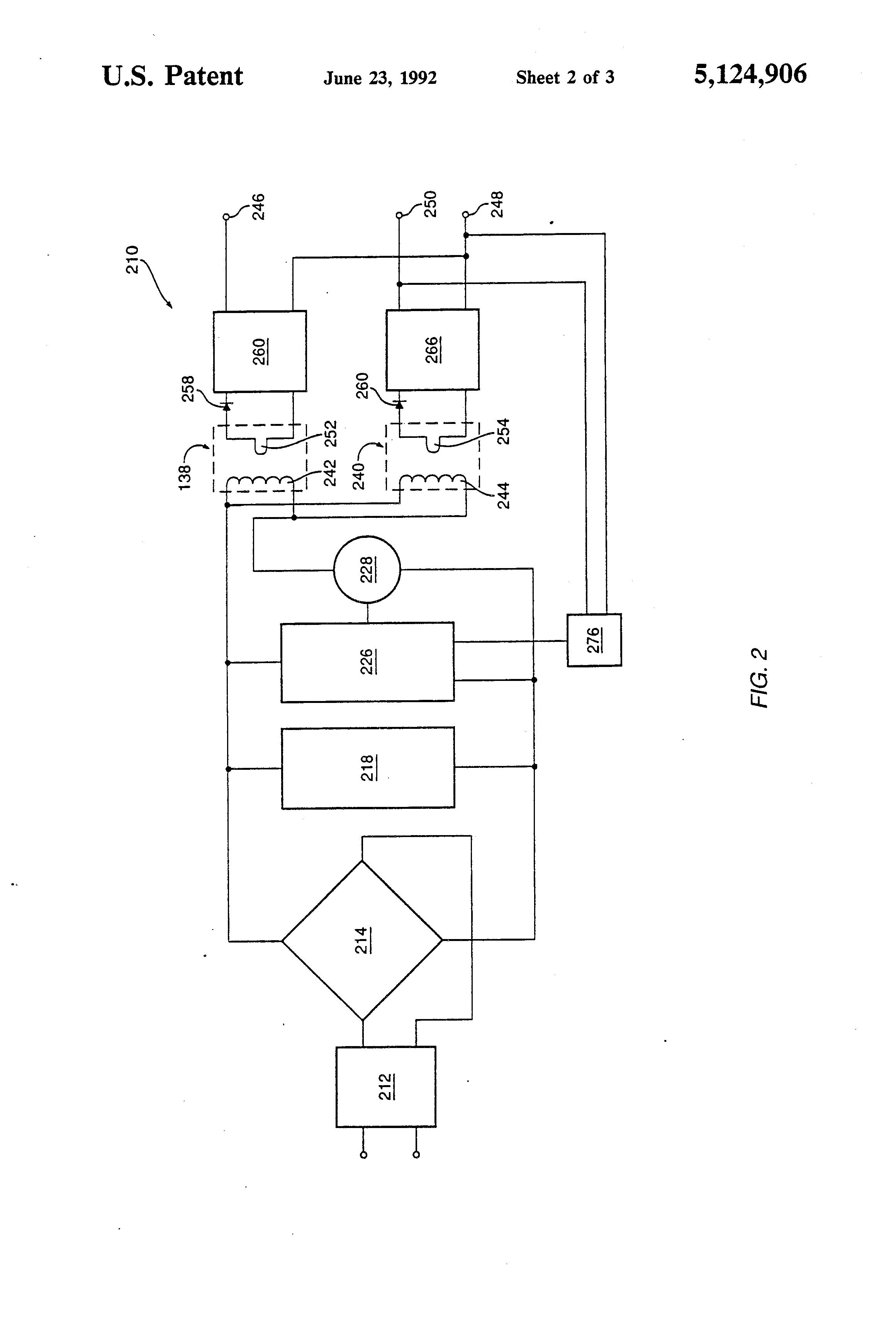 براءة الاختراع us5124906 multiple transformer switch mode powerFig 342 Circuit Diagram Of A Pushpull Smps Using The Texas #8