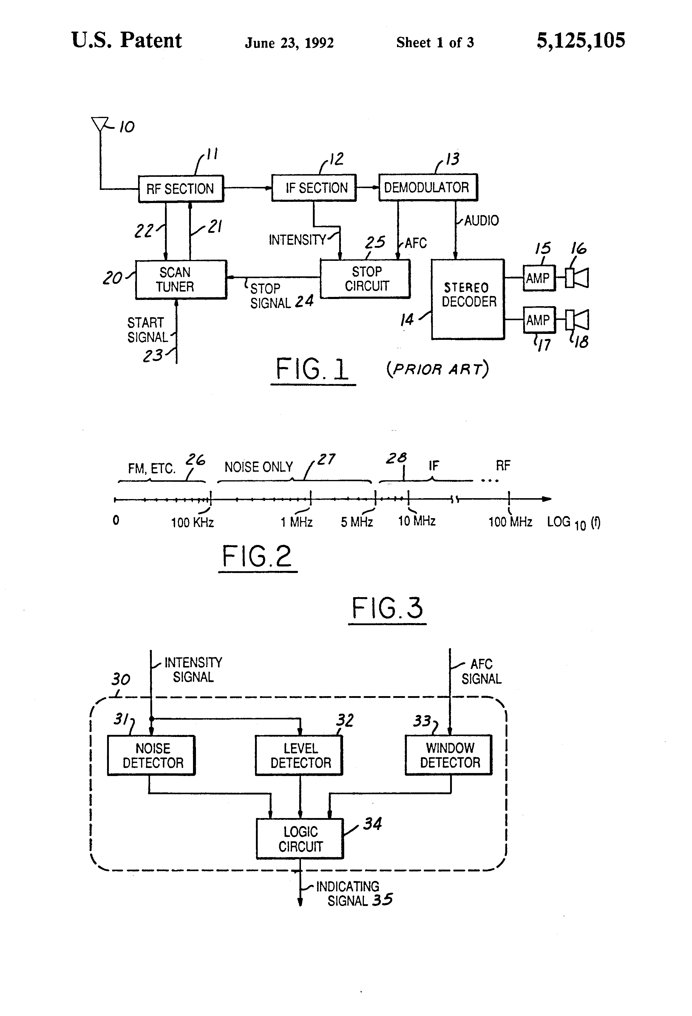 Patent Us5125105 High Quality Reception Indicating Circuit For Fm Electronics Figure 2 17 Comparison Of Am And Receivers Drawing