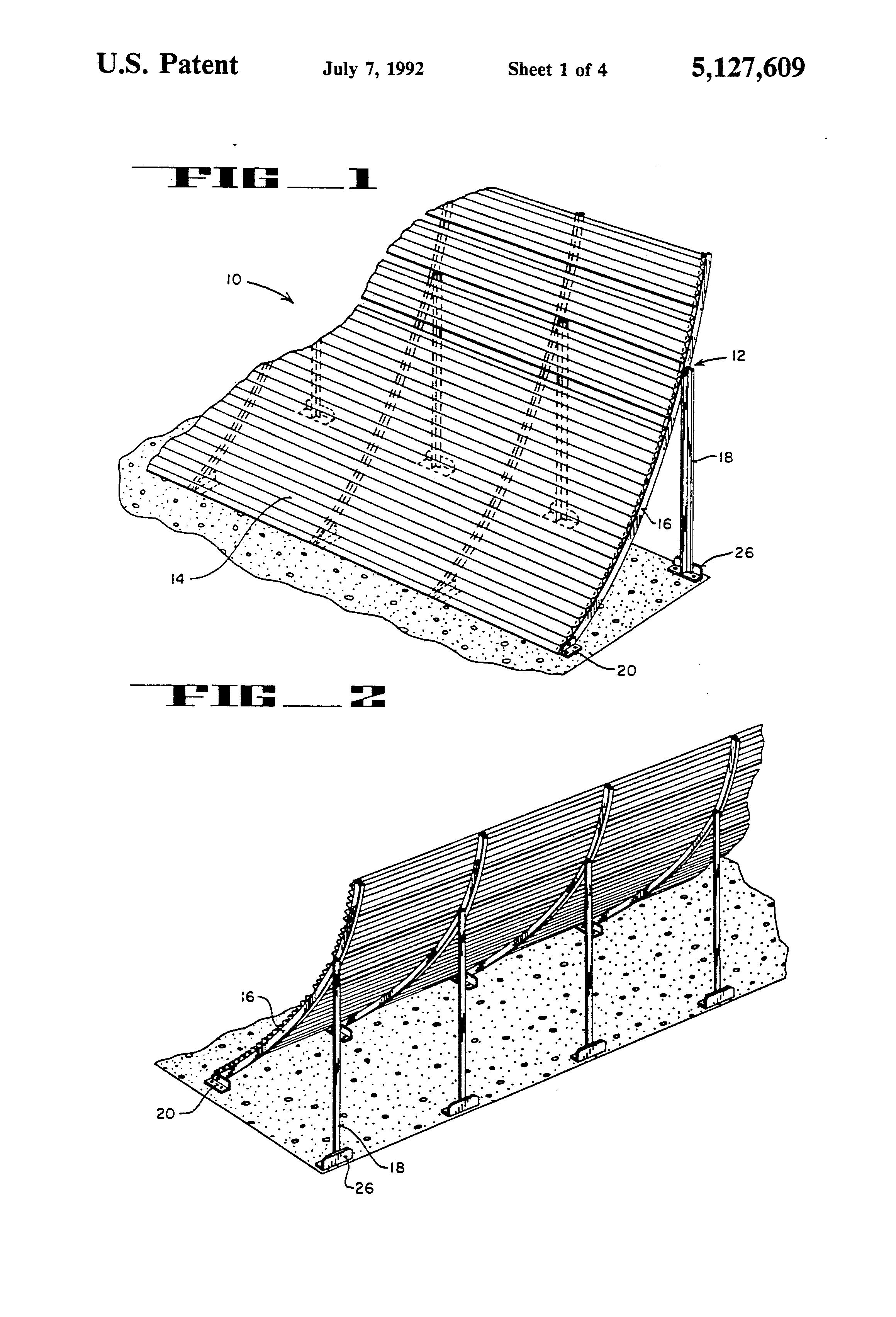 Patent Us5127609 Jet Blast Deflector Fence Google Patents