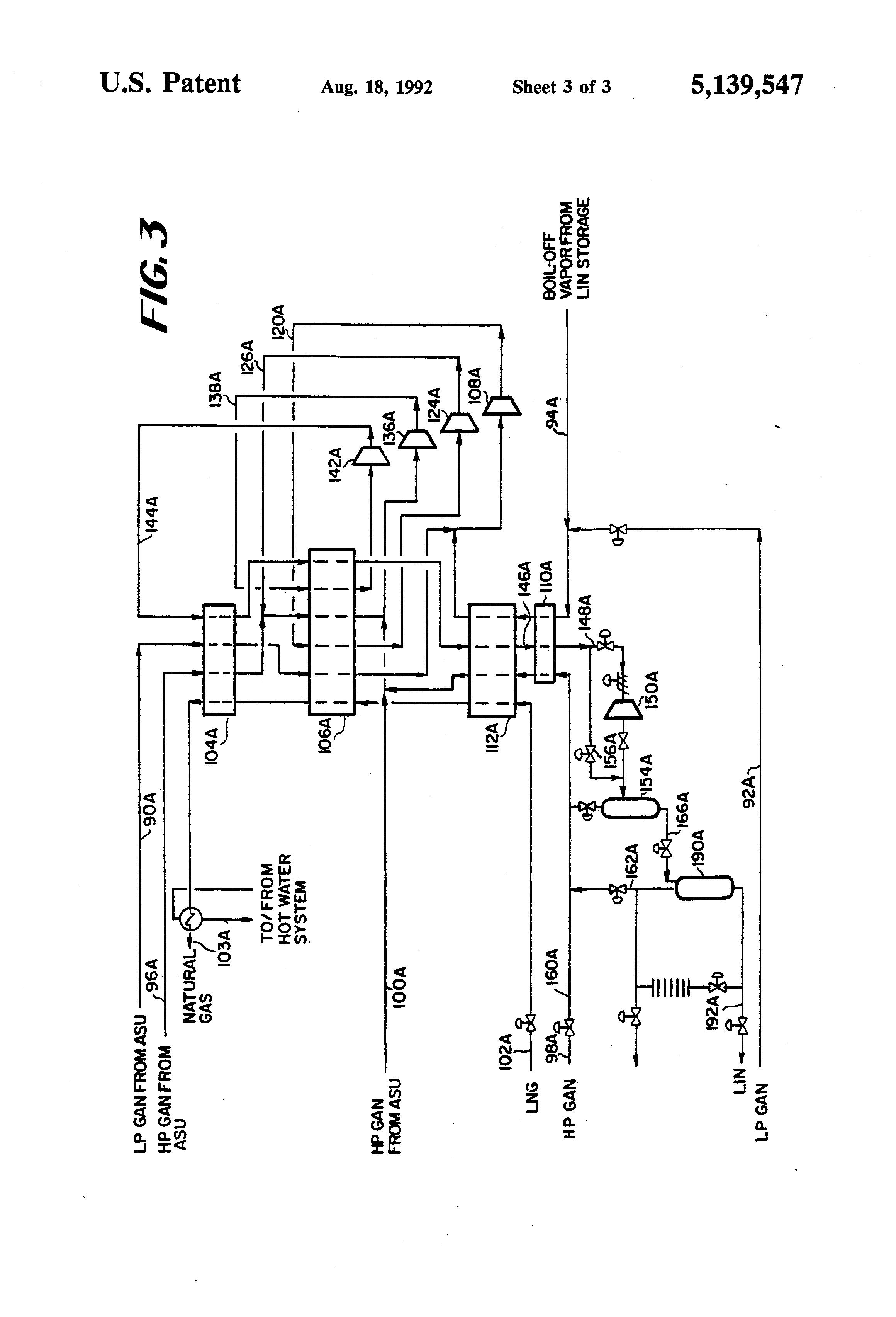 Patent Us5139547 Production Of Liquid Nitrogen Using