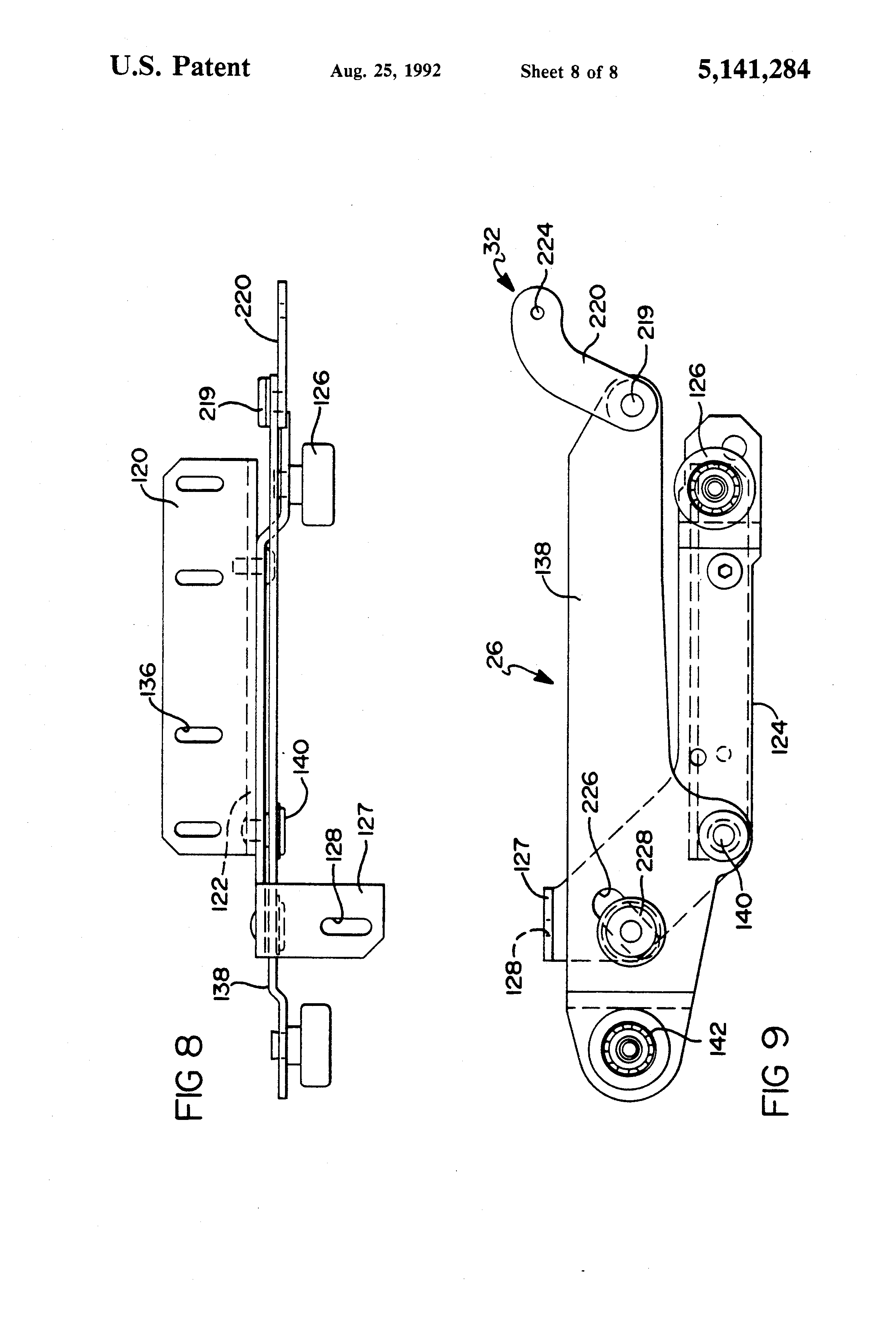 Patent Us5141284 Wall Proximity Reclining Chair