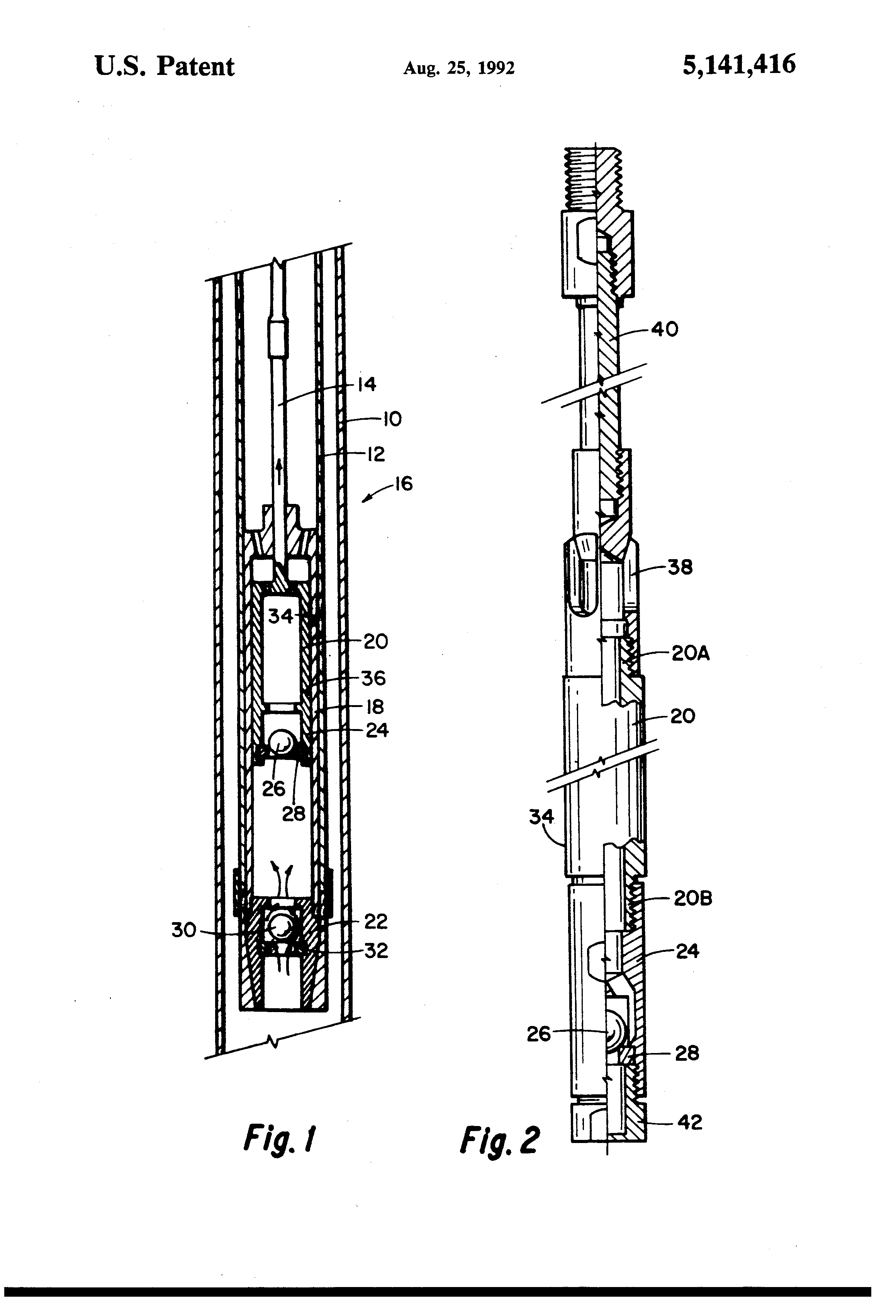 Patent Us5141416 Plunger For A Downhole Reciprocating