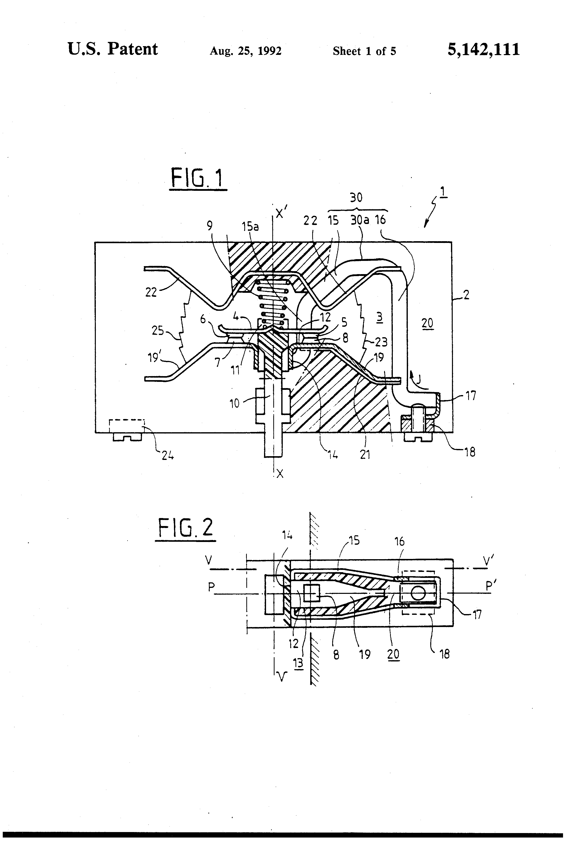Patent US5142111 - Circuit breaker with current loops