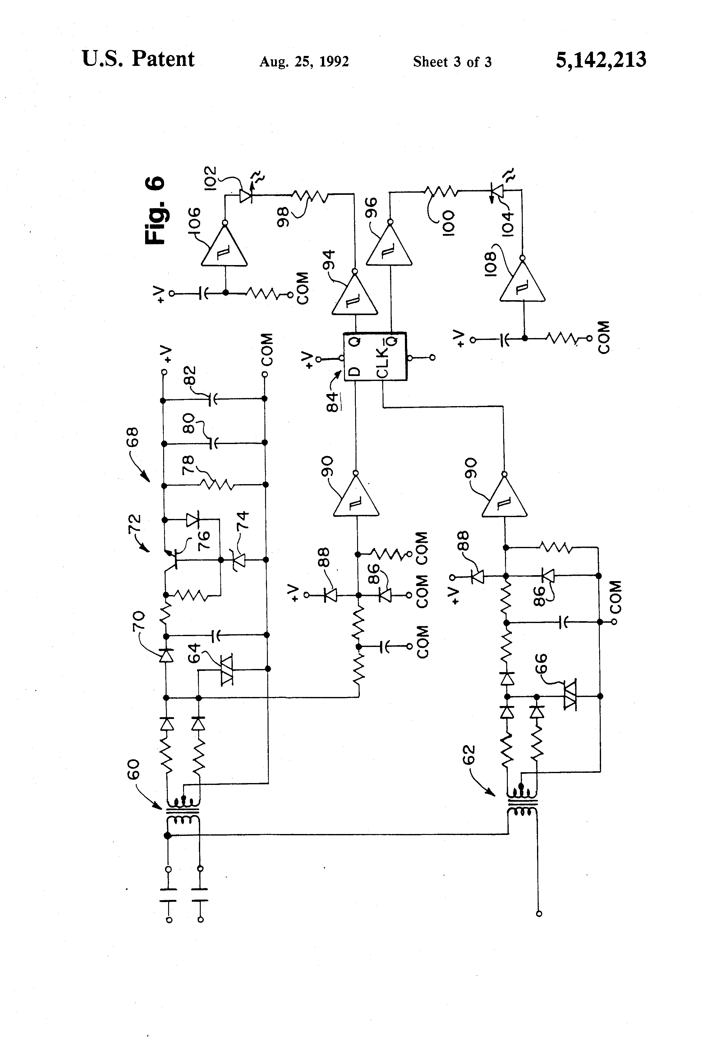 US5142213 3 patent us5142213 wye delta open transition motor starter with wye delta motor wiring diagram at fashall.co
