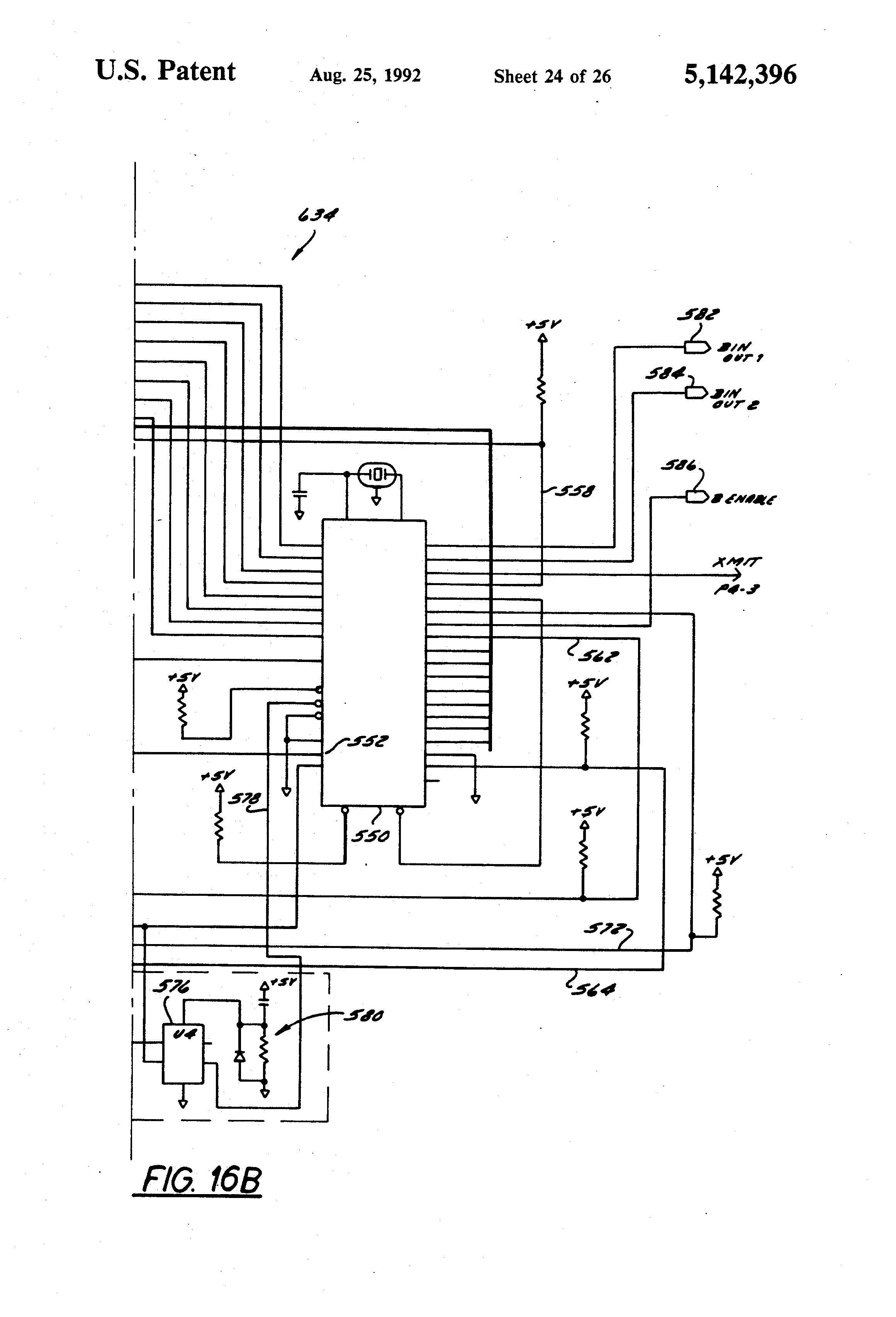 patent us5142396 - diffused infrared communication control system