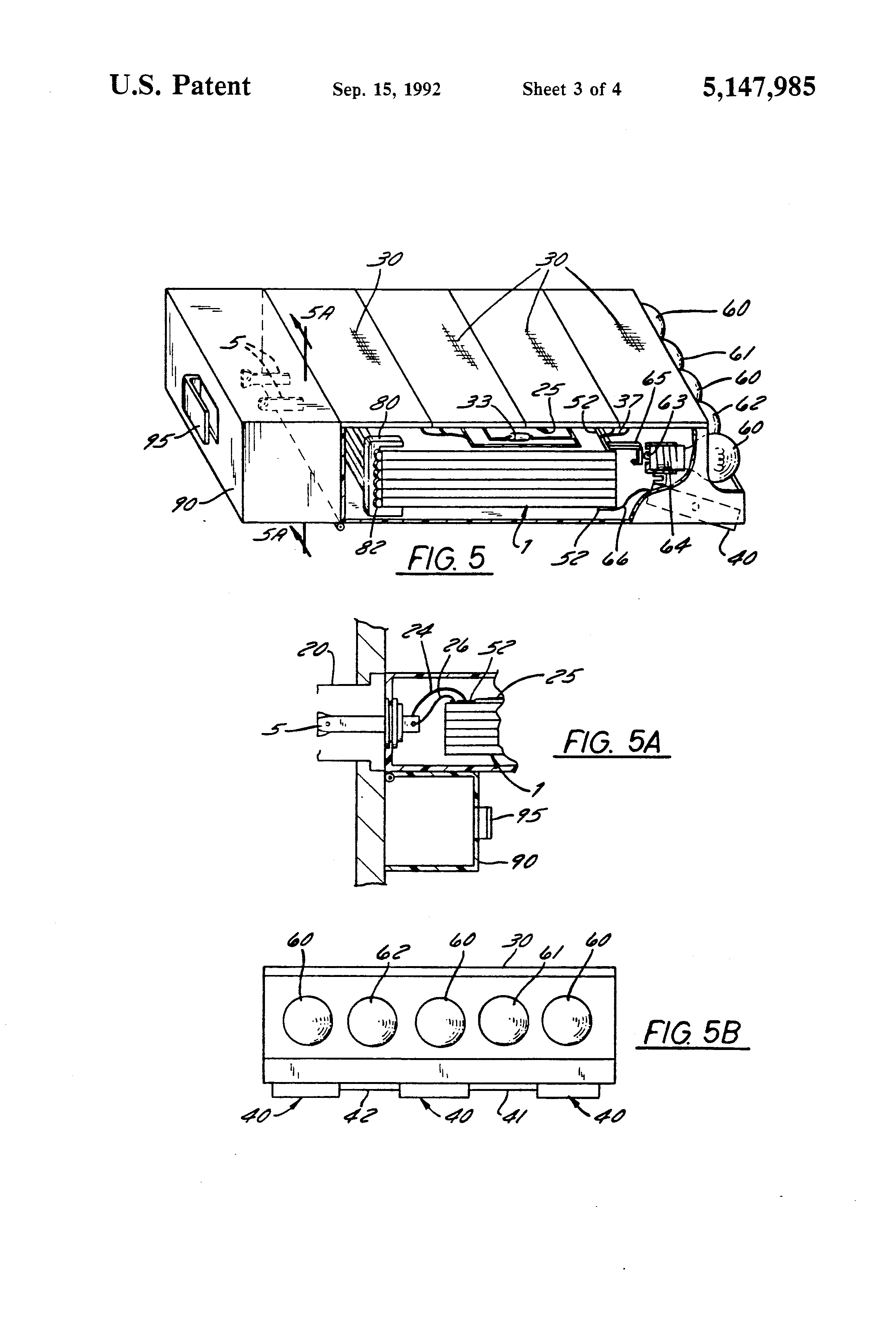 patent us5147985 - sheet batteries as substrate for electronic circuit