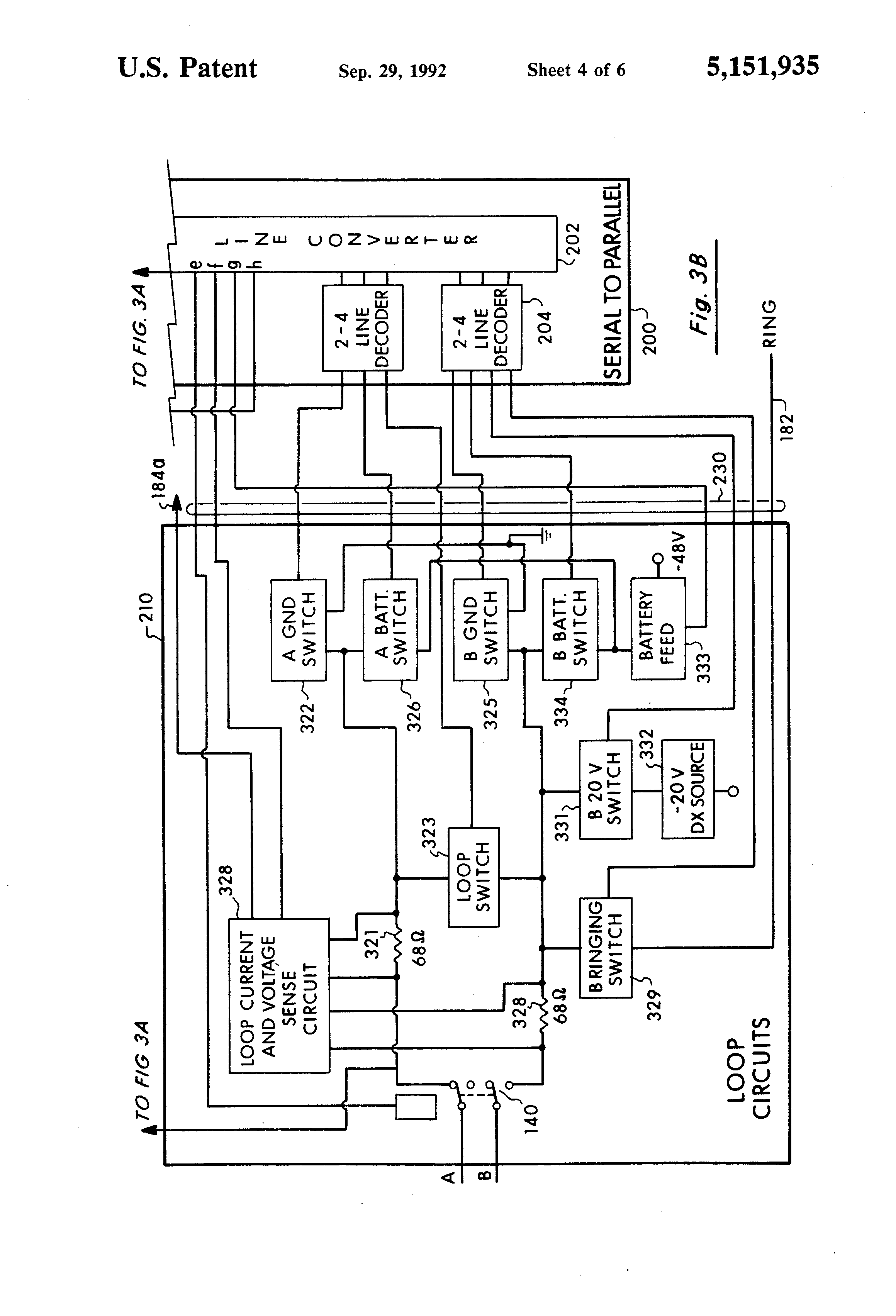 patent us5151935 programmable universal signaling circuit for a patent drawing