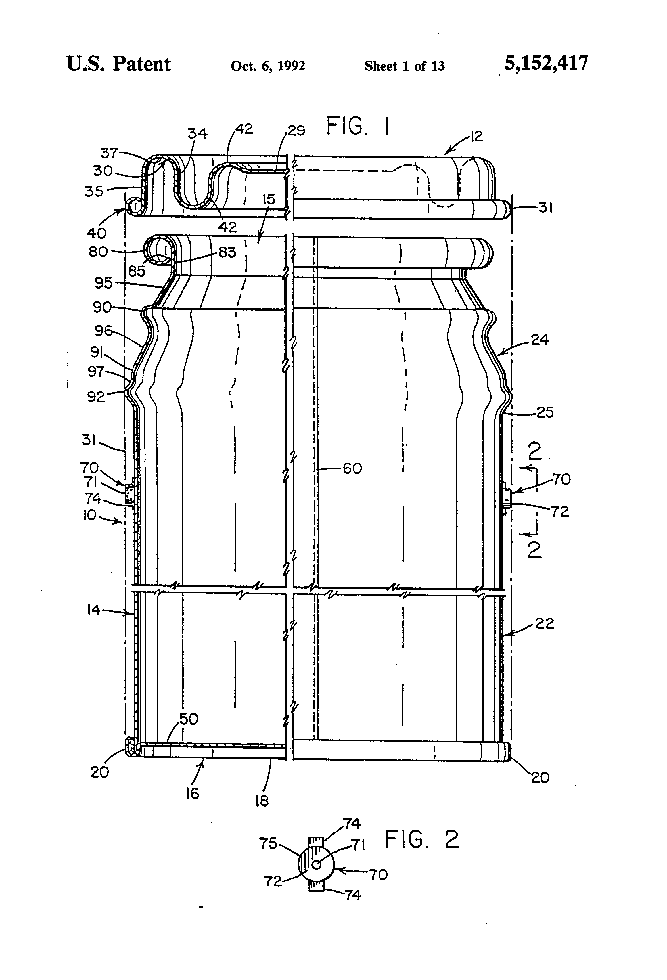 Patent US5152417 - Ringless paint container with drip free ... on