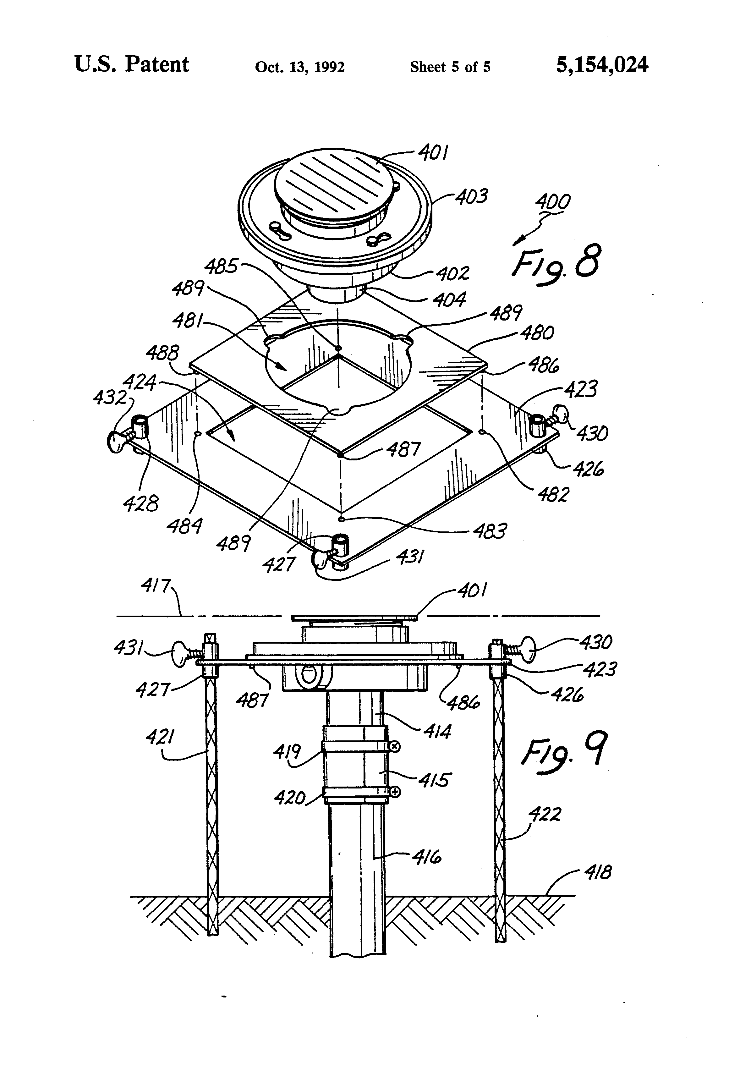 Patent Us5154024 Floor Sink Drain Installation Method