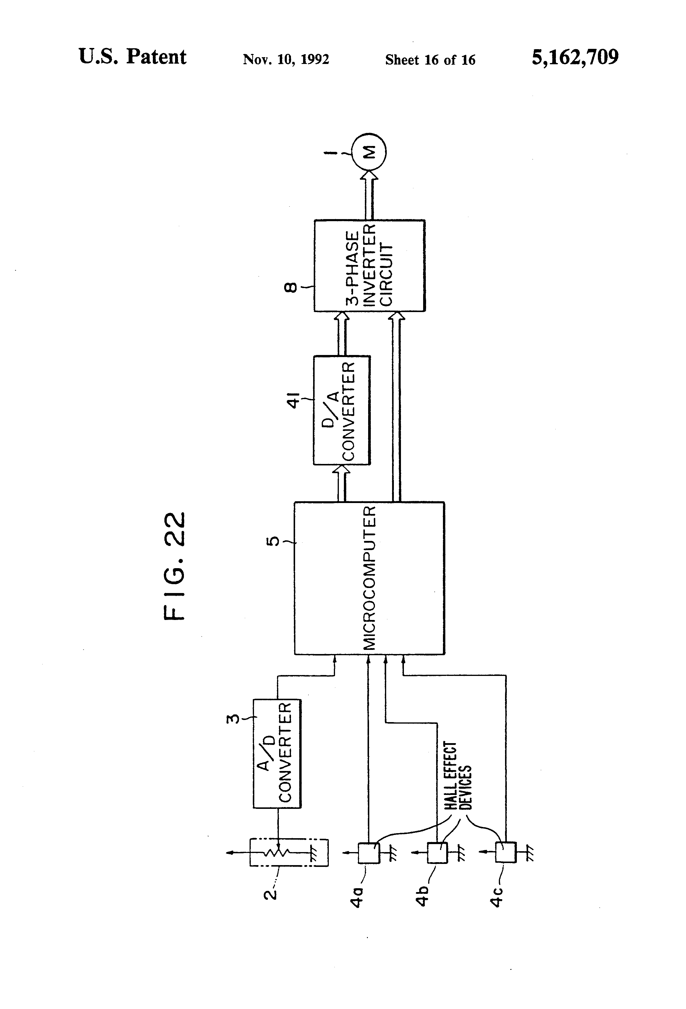 Patent US5162709 - Apparatus for controlling blower motor of
