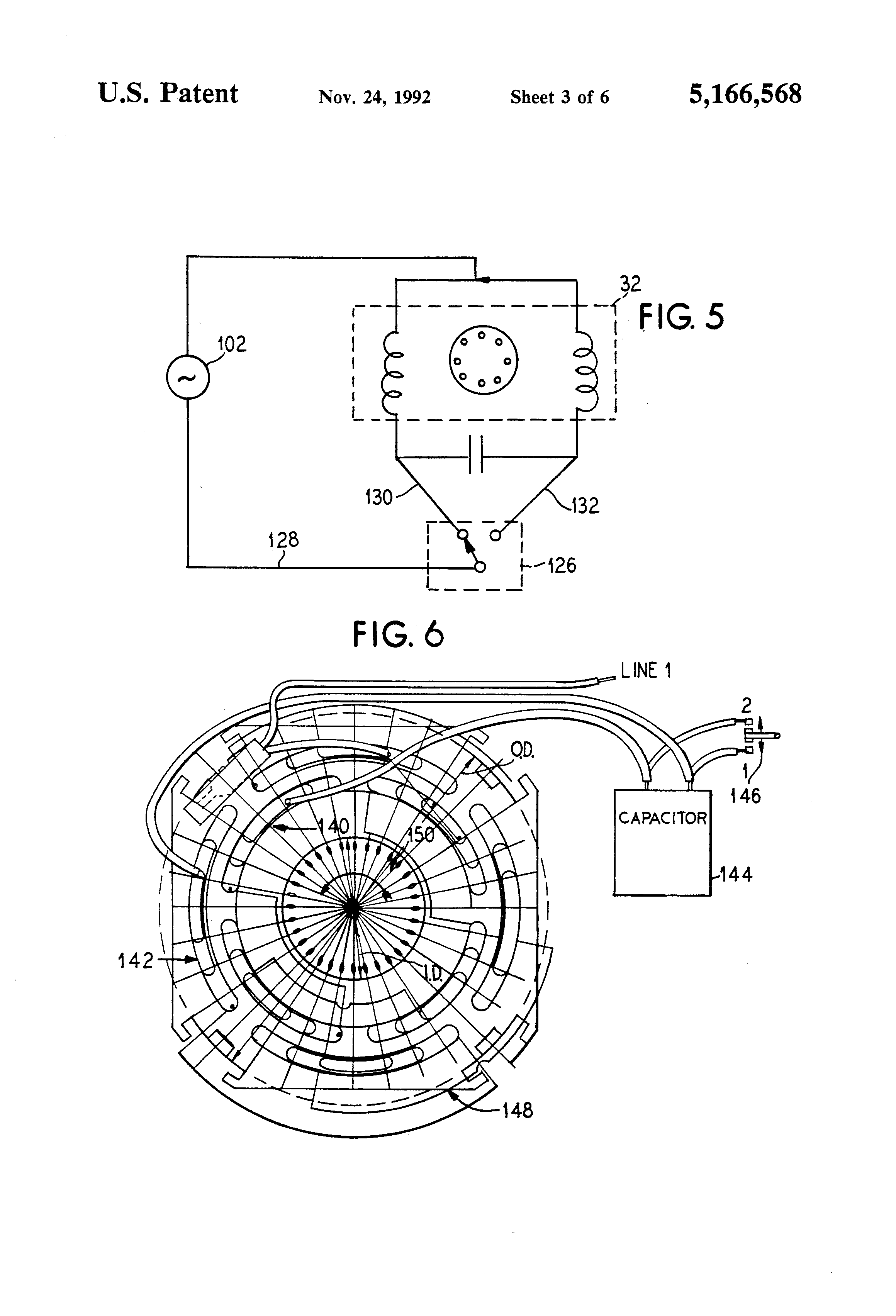 patent us5166568 - psc motor for automatic washer