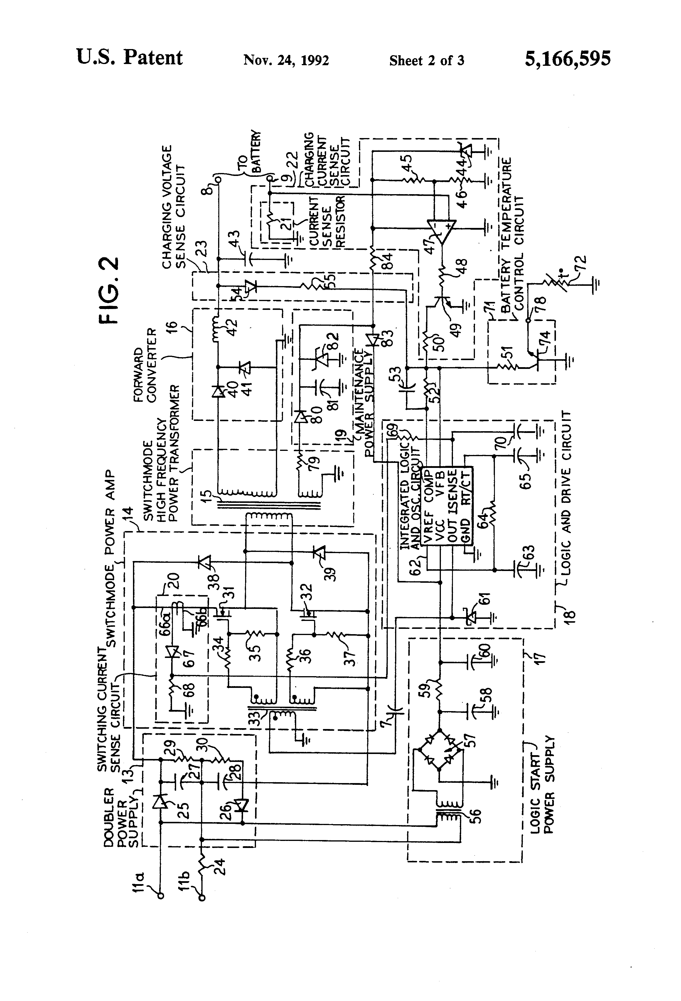 Draw The Wiring Diagram For Charging Of A Lead Battery 54 Simple Nicad Charger Circuit By Little Part Eleccircuit Us5166595 2 Patent Switch Mode System Google