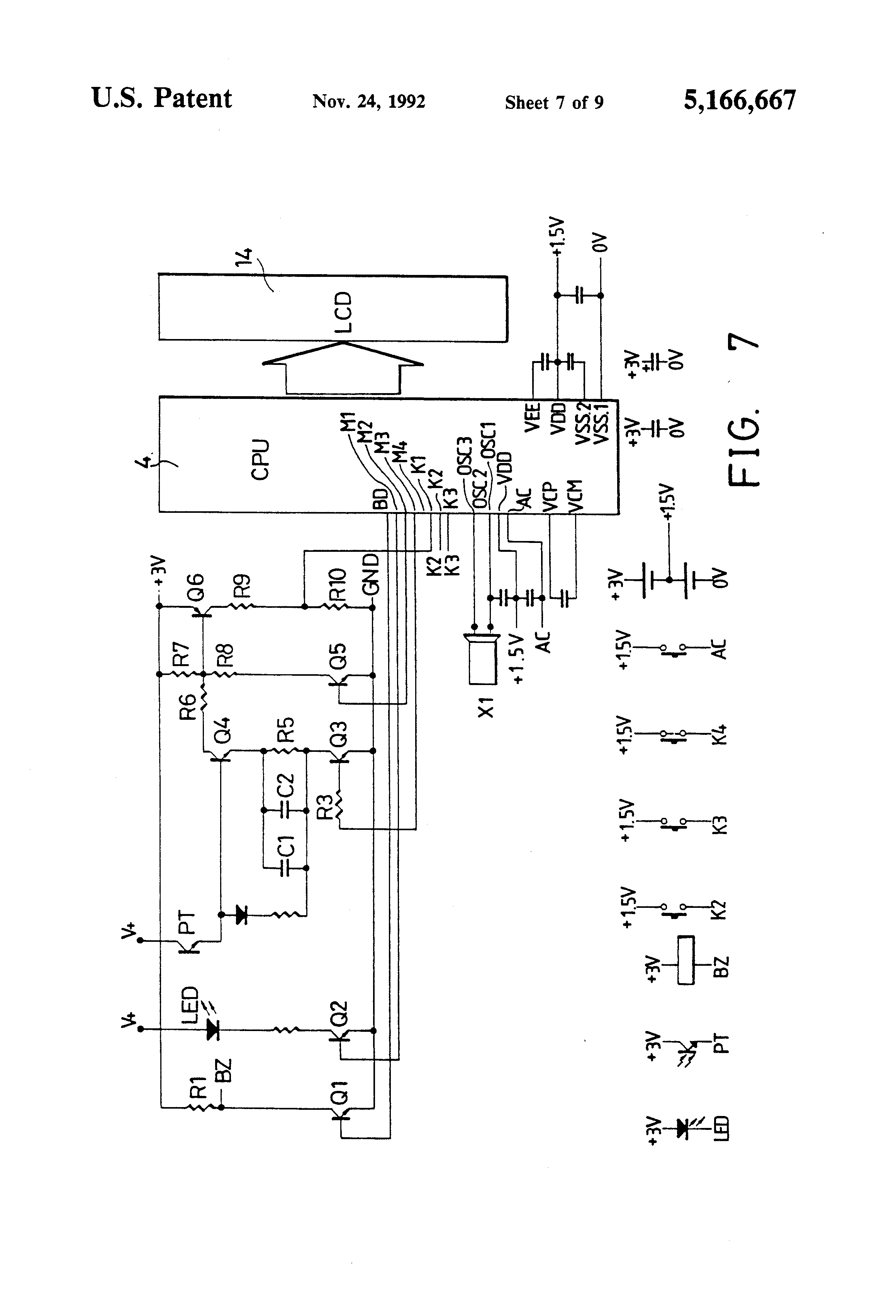 patent us5166667 - intravenous infusion counter and alarm apparatus