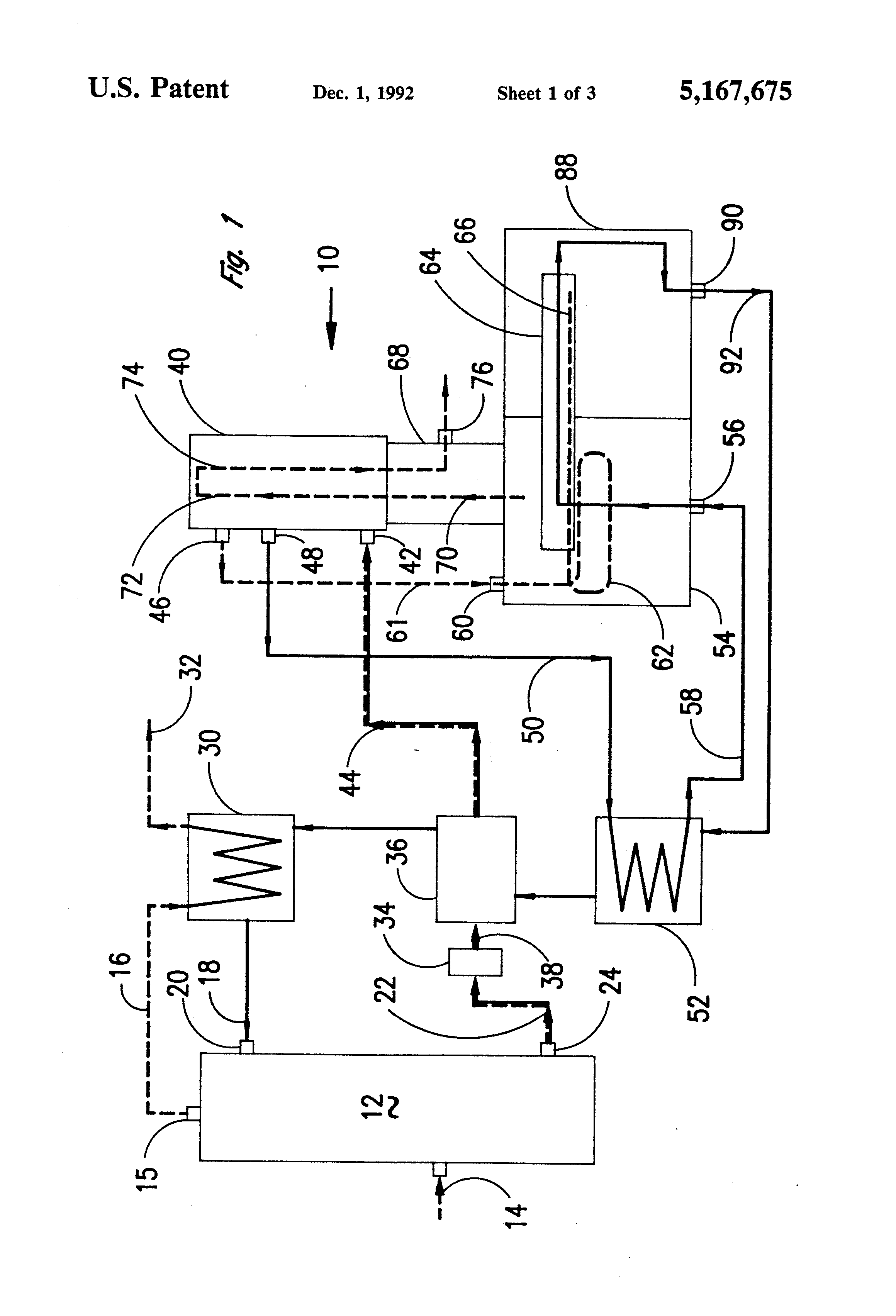 patent us5167675 - regeneration system for glycol dehydrator