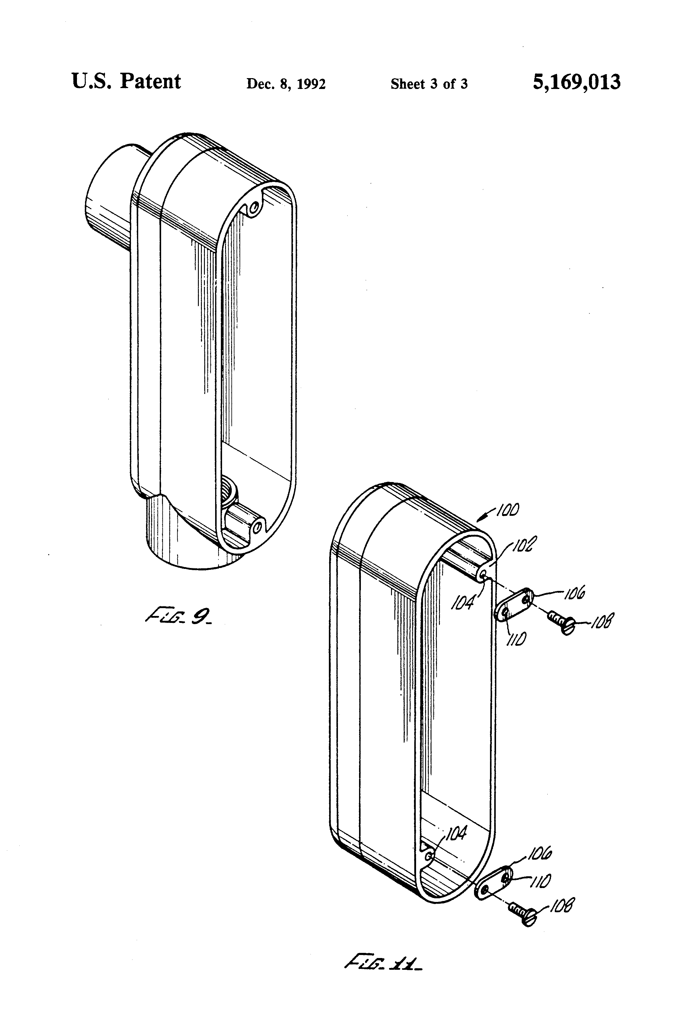 Patent Us5169013 Electrical Condulet Extension Box
