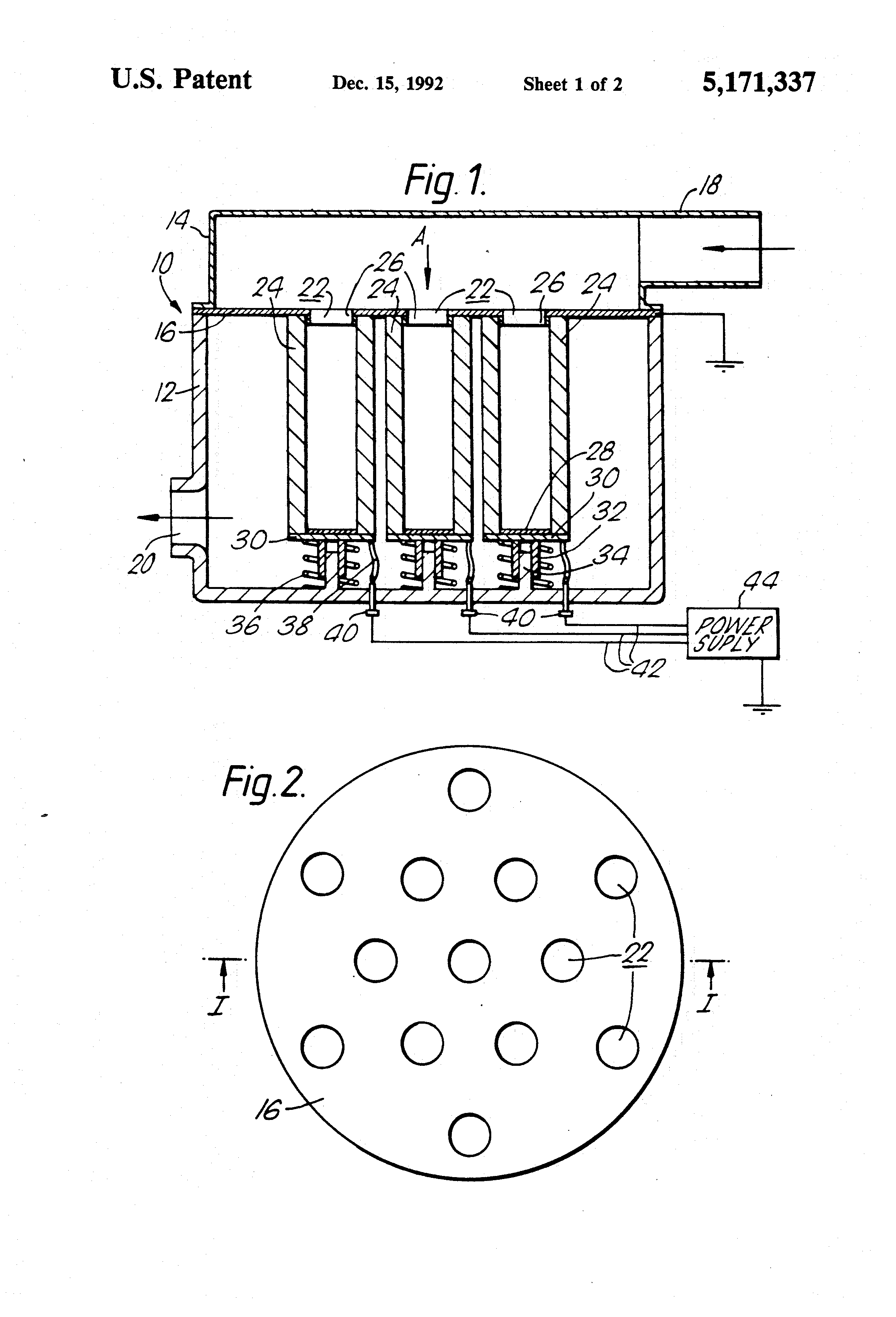 patent us5171337 - exhaust particulate filter