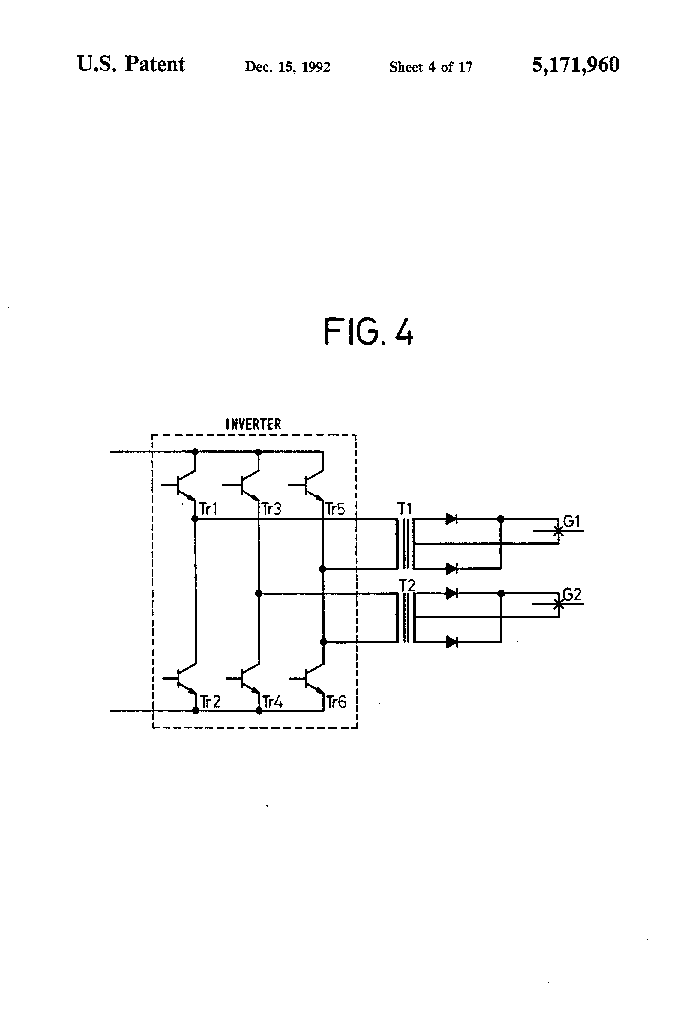 Patent Us5171960 Direct Current Resistance Welding Apparatus And Block Diagram Drawing