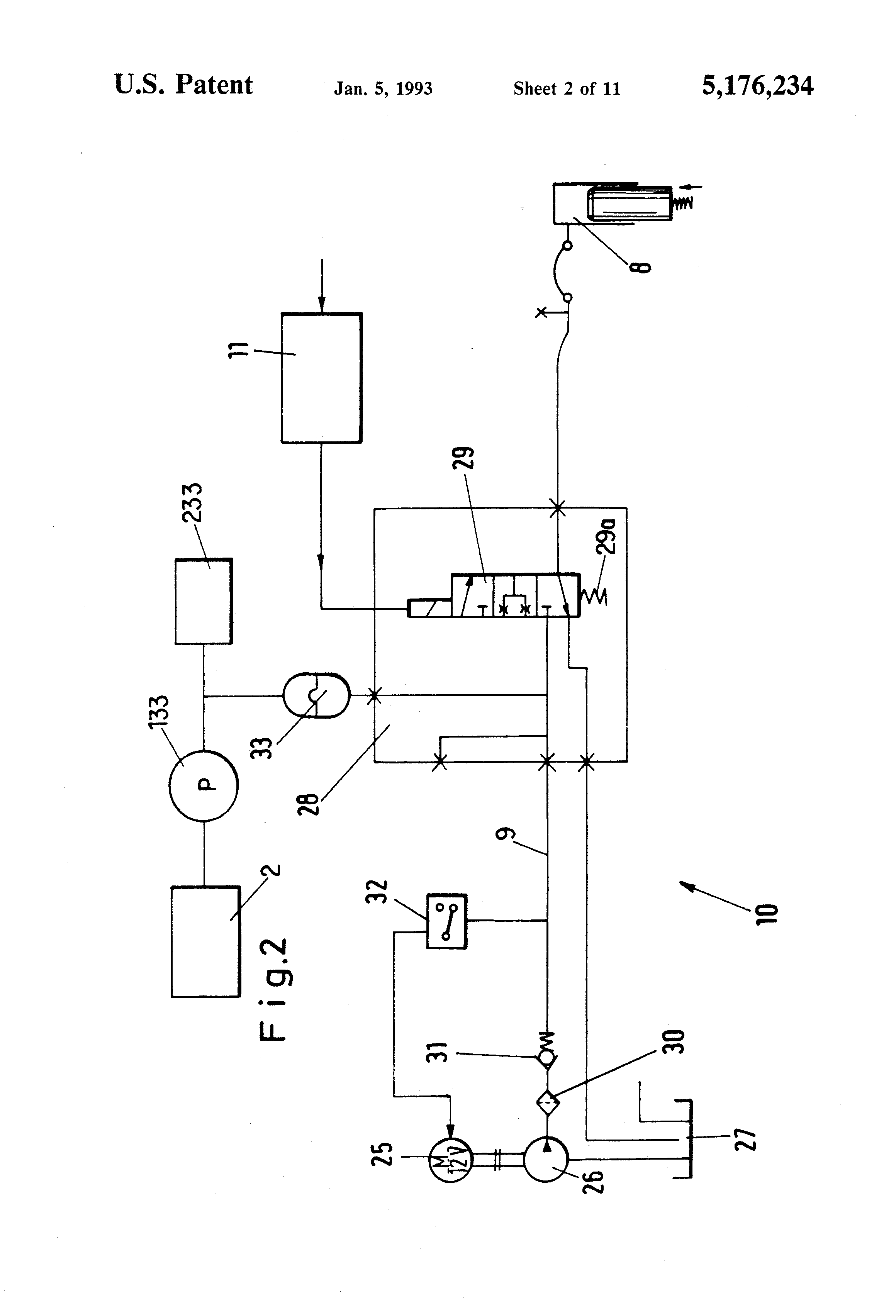 Patent Us5176234 Method Of Regulating The Operation Automatic Duty Factor Controlled Circuit Drawing