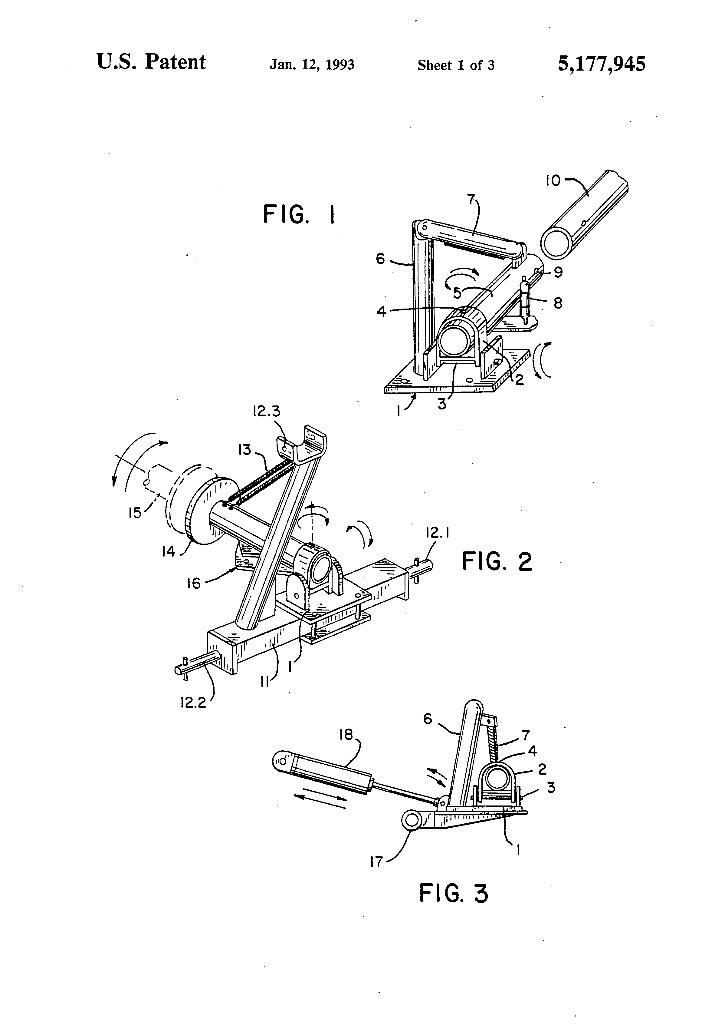 Patent US5177945 - Rake head support suitable for right hand