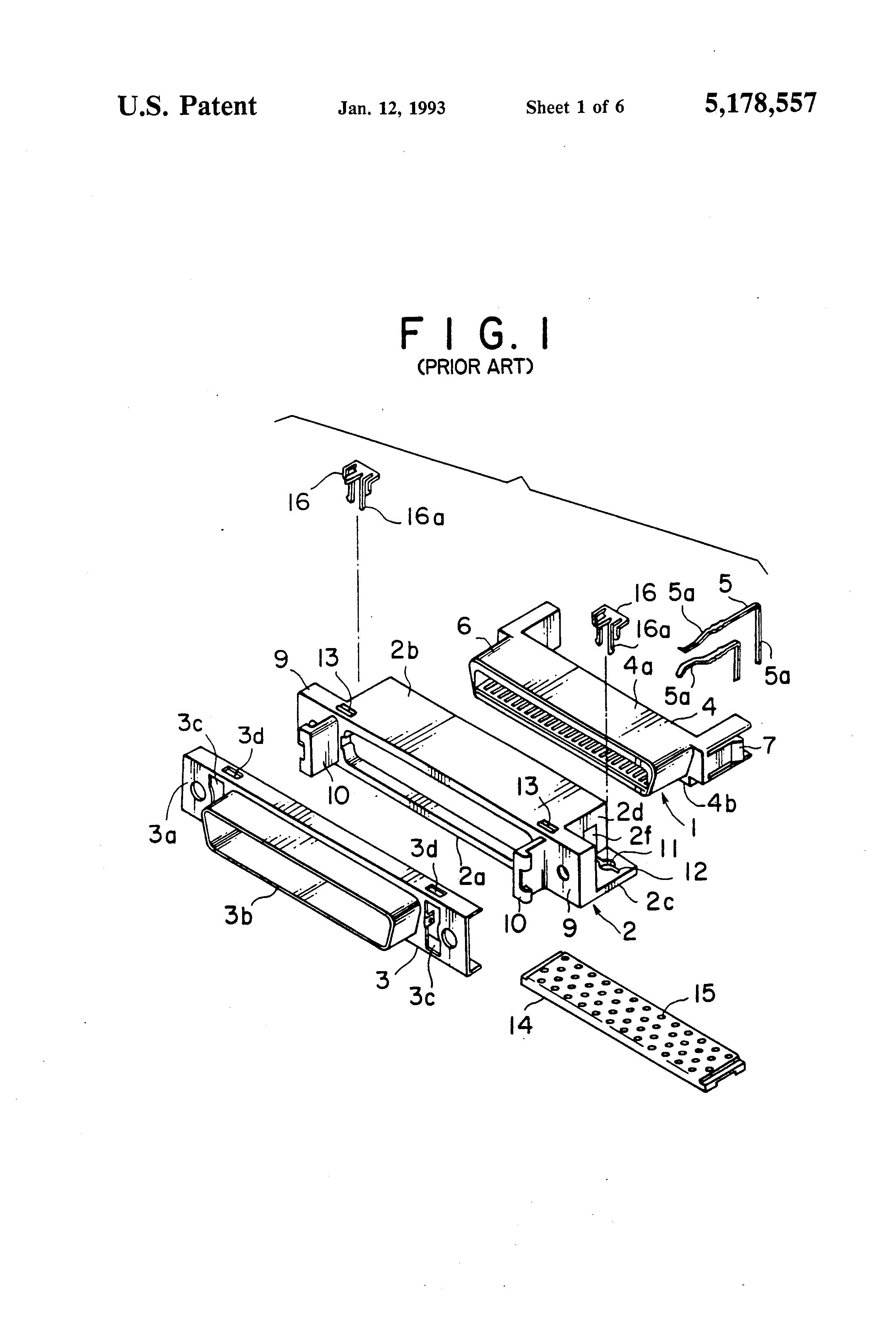 patent us5178557 electric connector having symmetric locking Two-Page Resume Two-Page Resume patent drawing