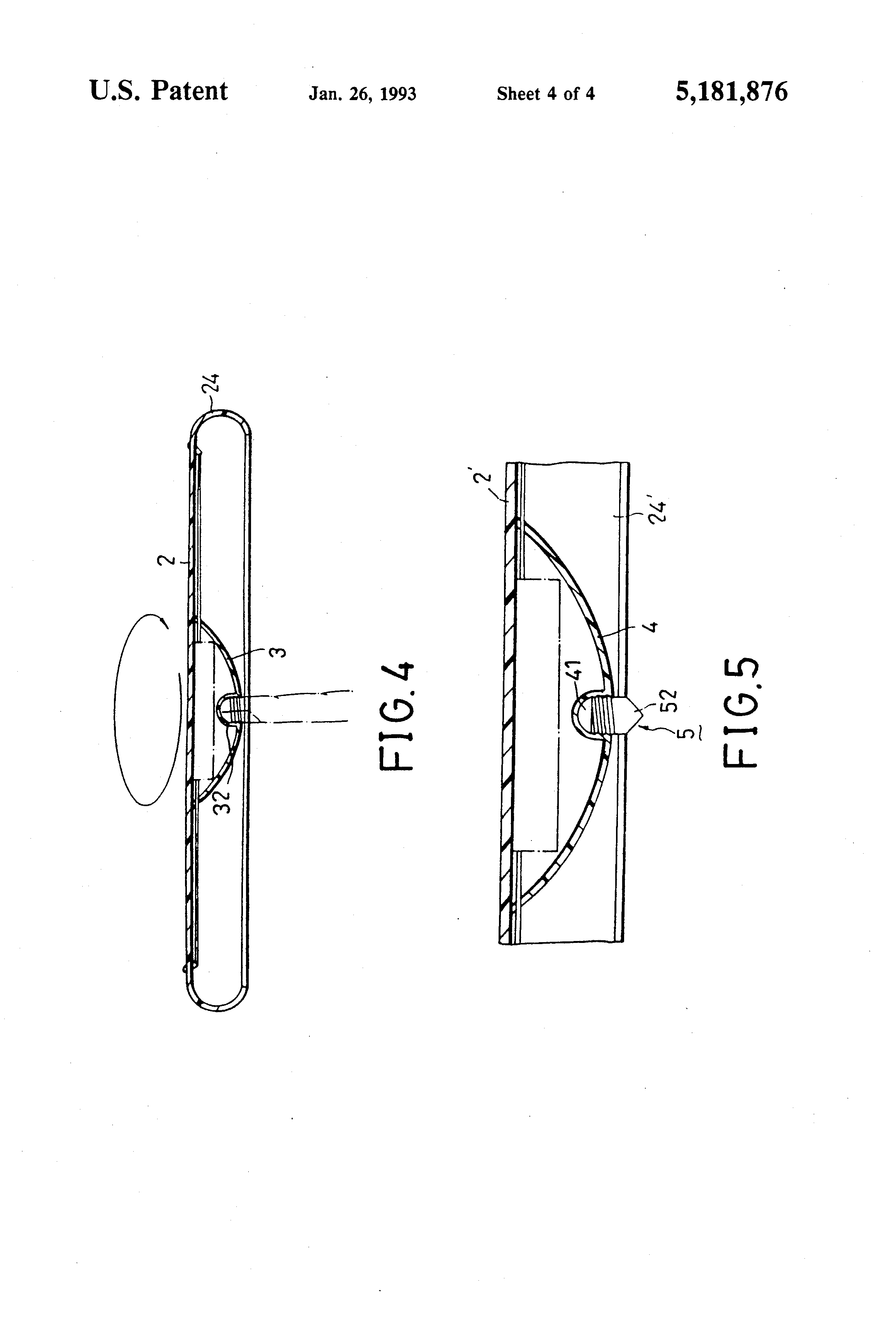 patent us5181876 - flying disk and top
