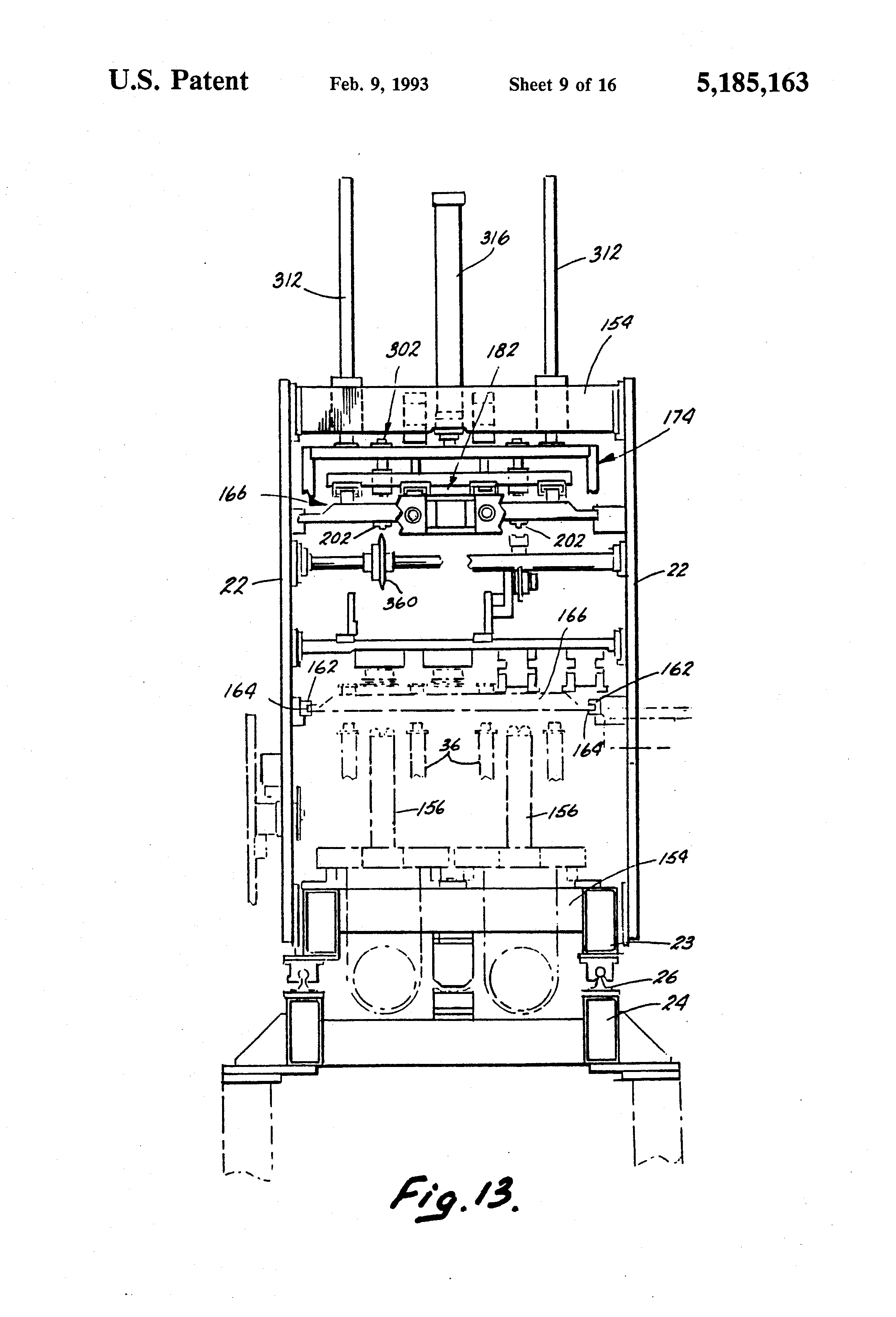 Patent US5185163 - Reheat blow molding machine for forming