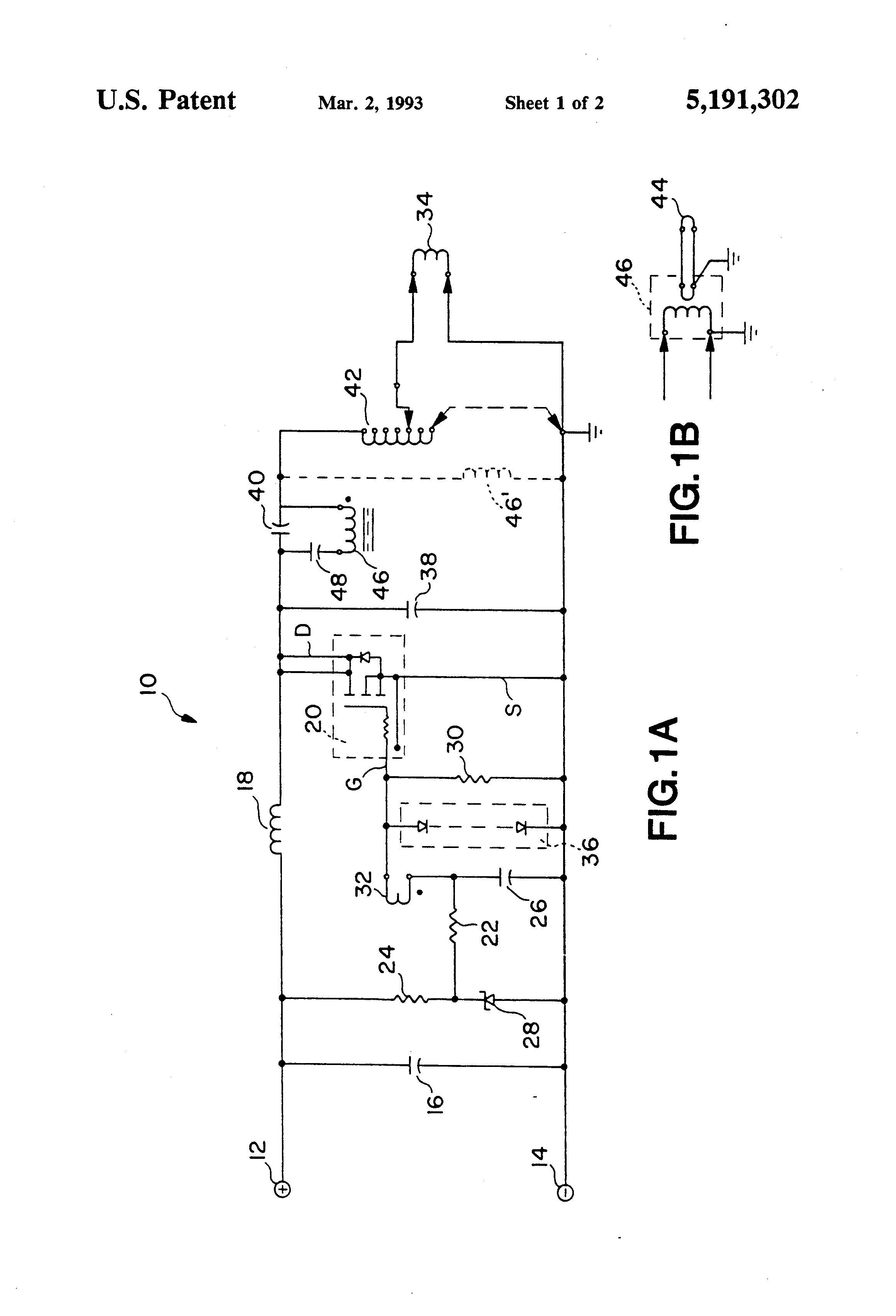 patent us5191302 - mosfet oscillator for supplying a high-power rf inductive load