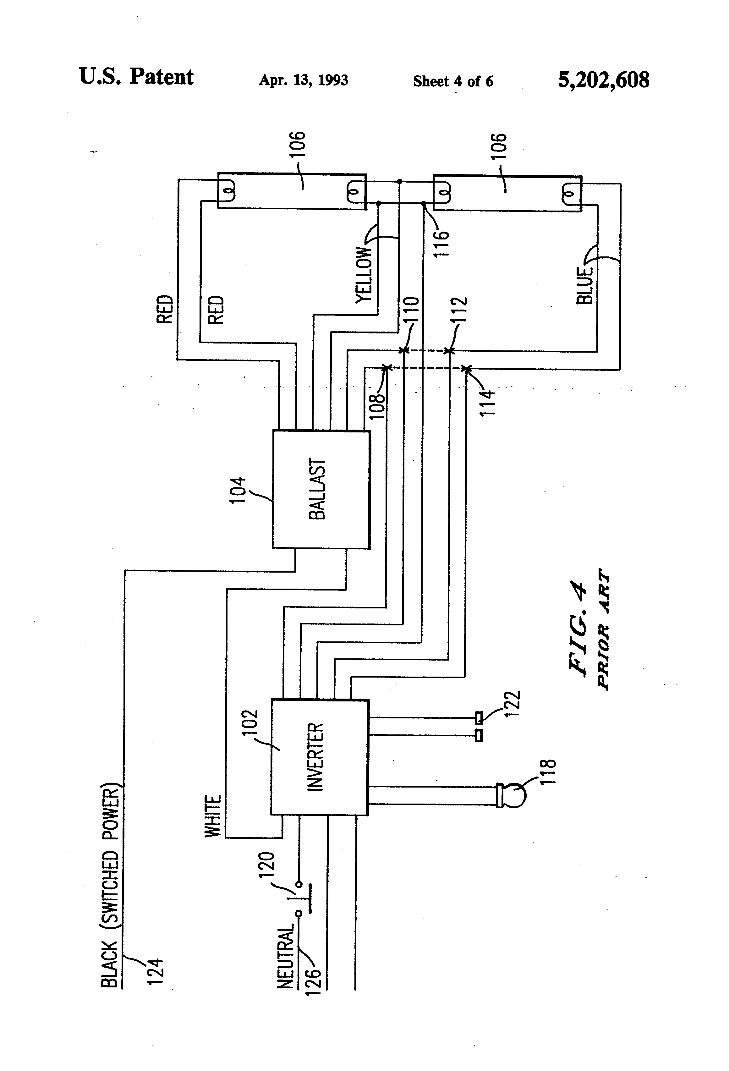 Patent Us5202608 Emergency Lighting System Utilizing