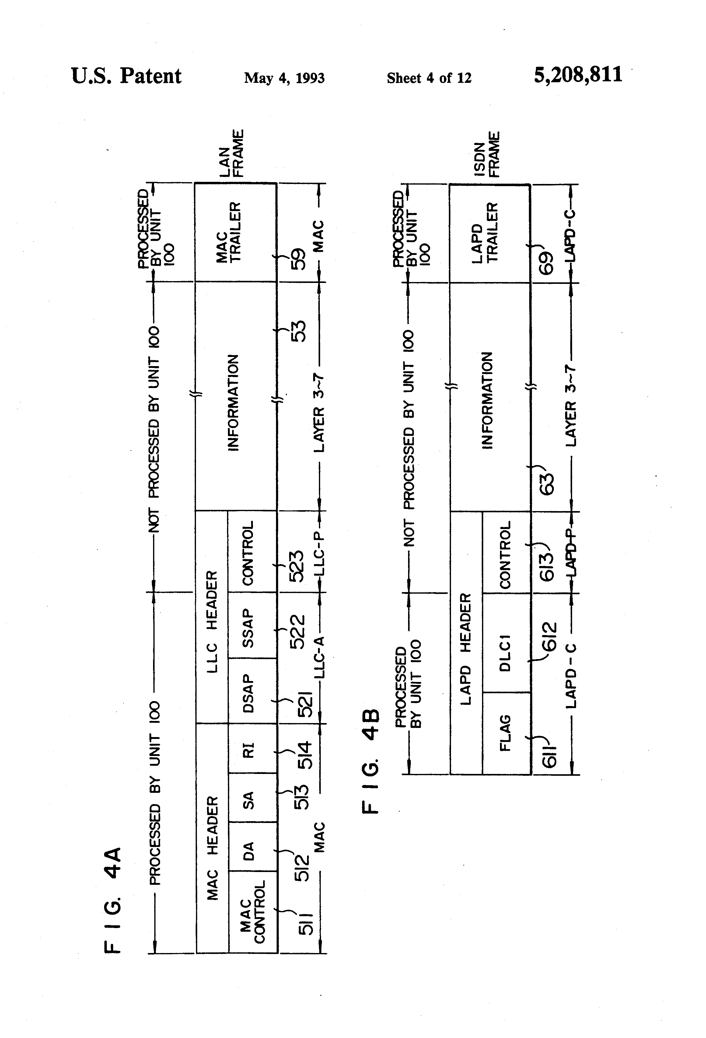 Patent US5208811 - Interconnection system and method for ...
