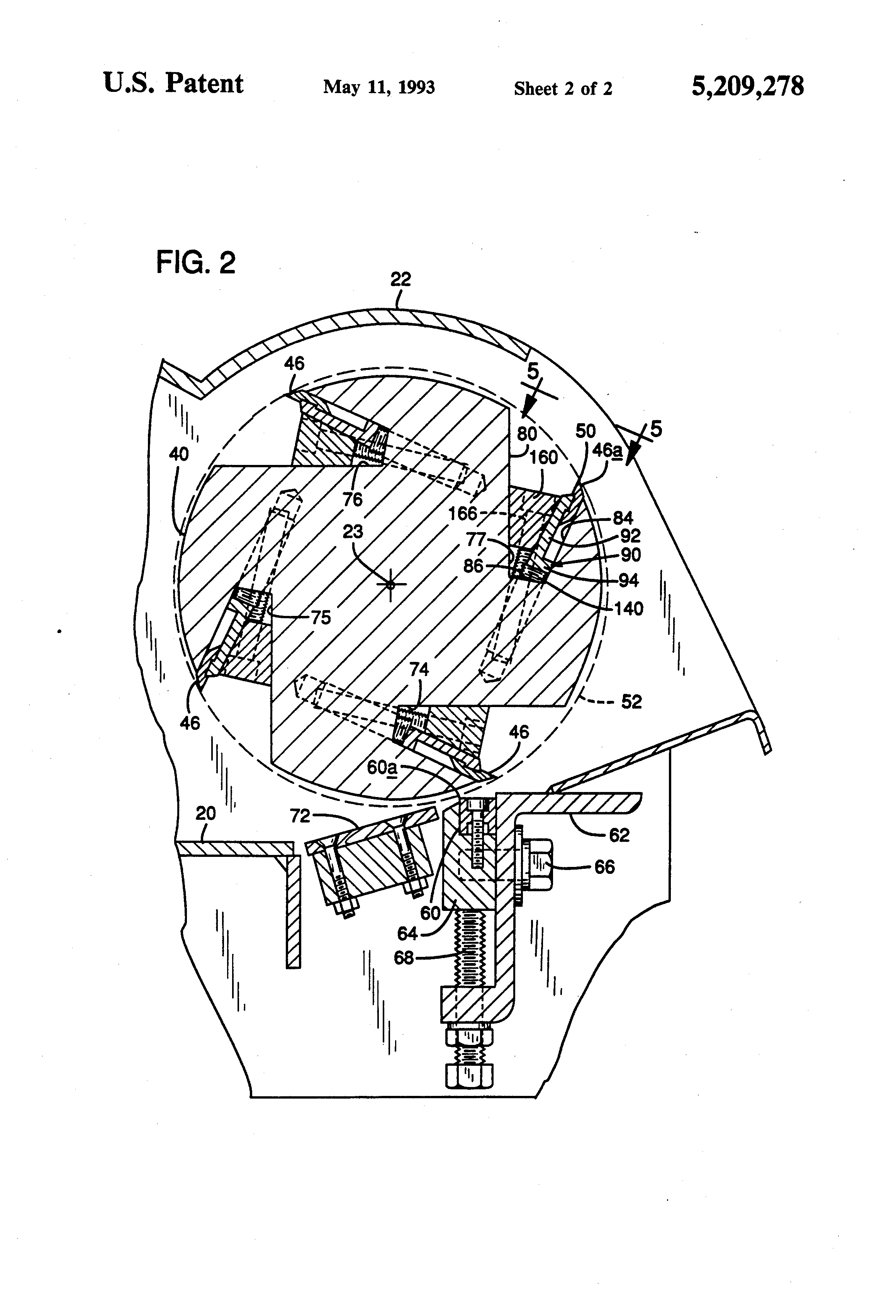 Patent US5209278 - Drum chipper with knife and knife holder